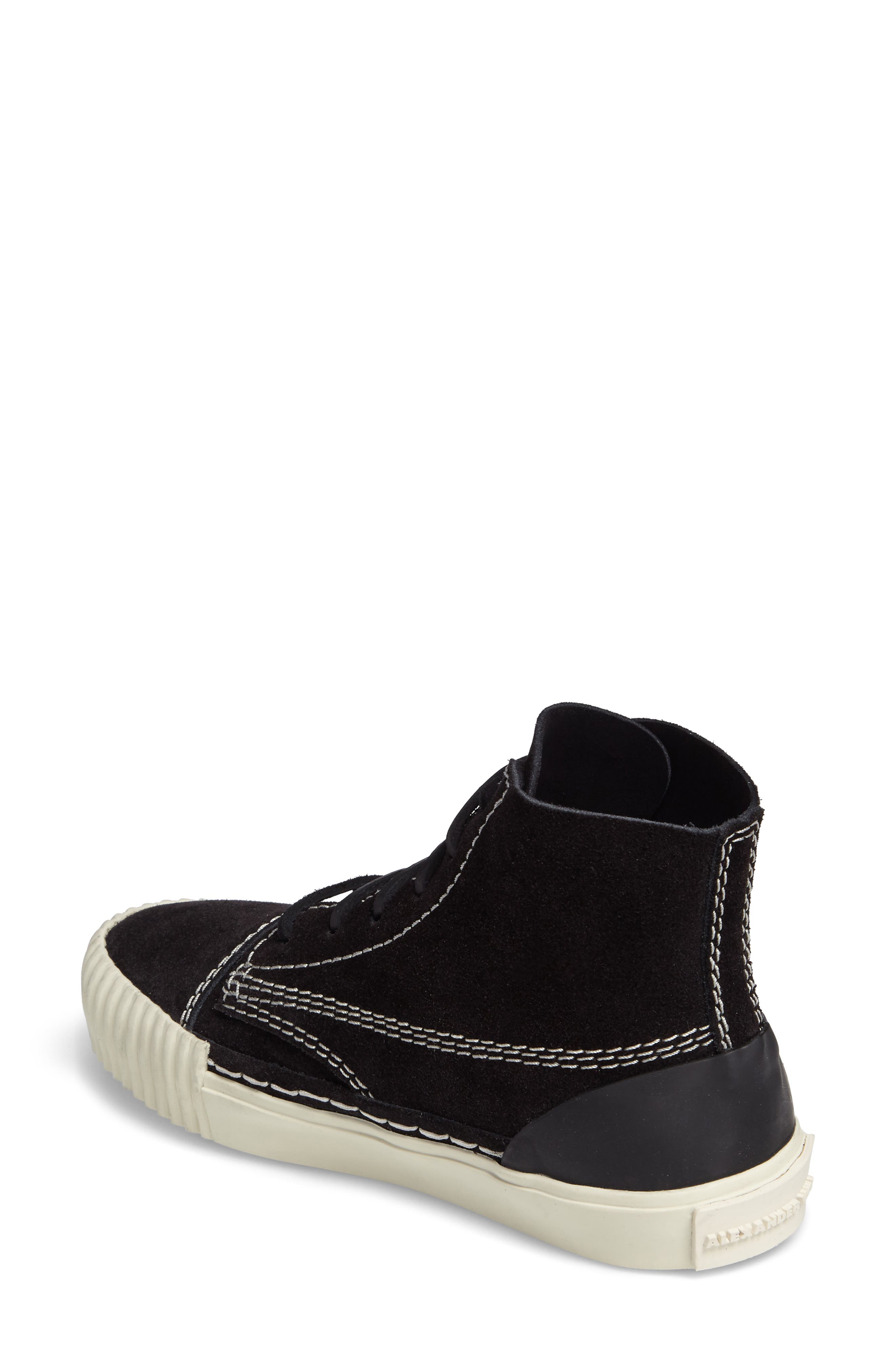 'Perry' Suede High Top Sneaker,                             Alternate thumbnail 2, color,                             001