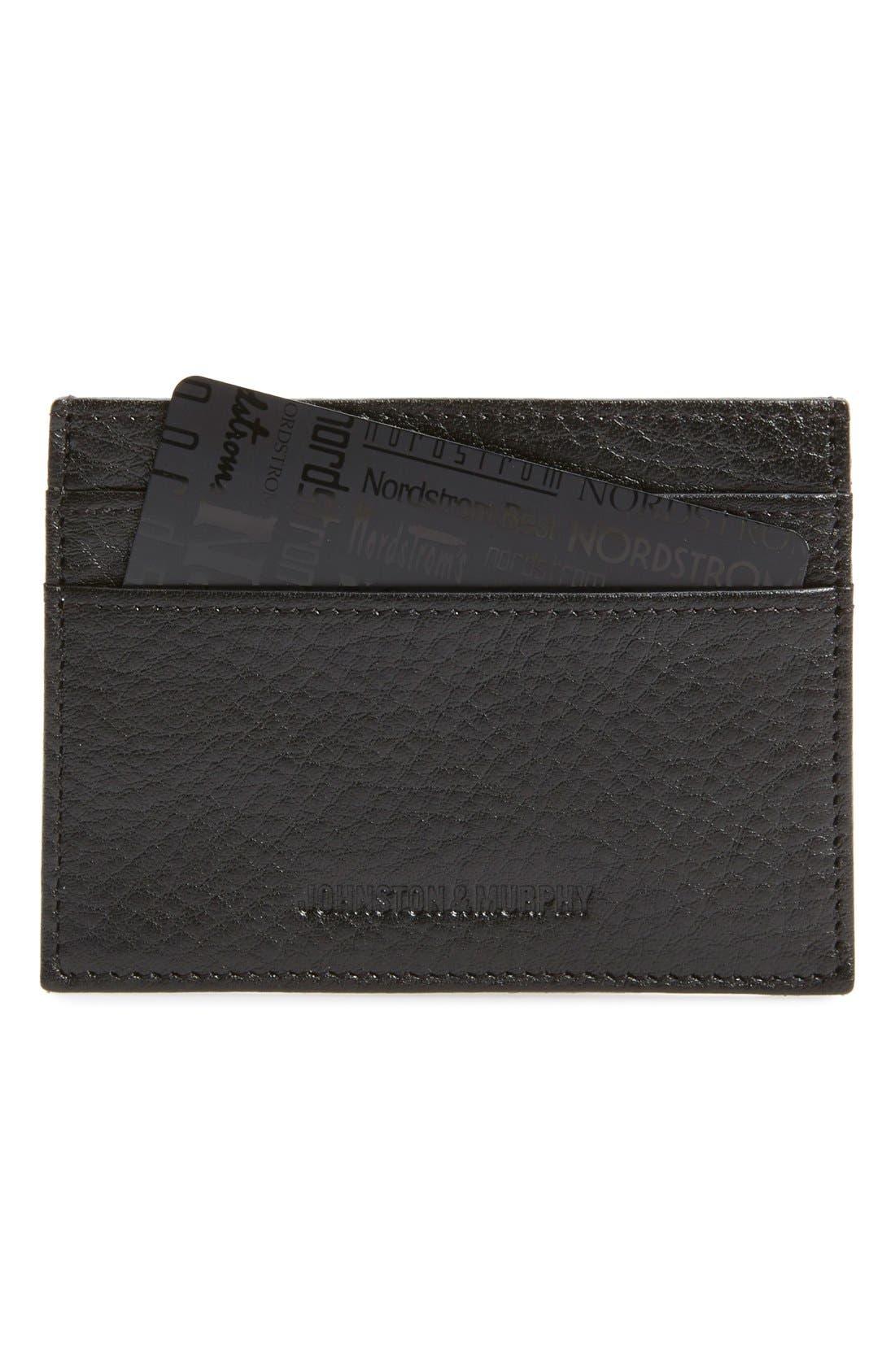 RFID Card Case,                             Main thumbnail 1, color,                             BLACK