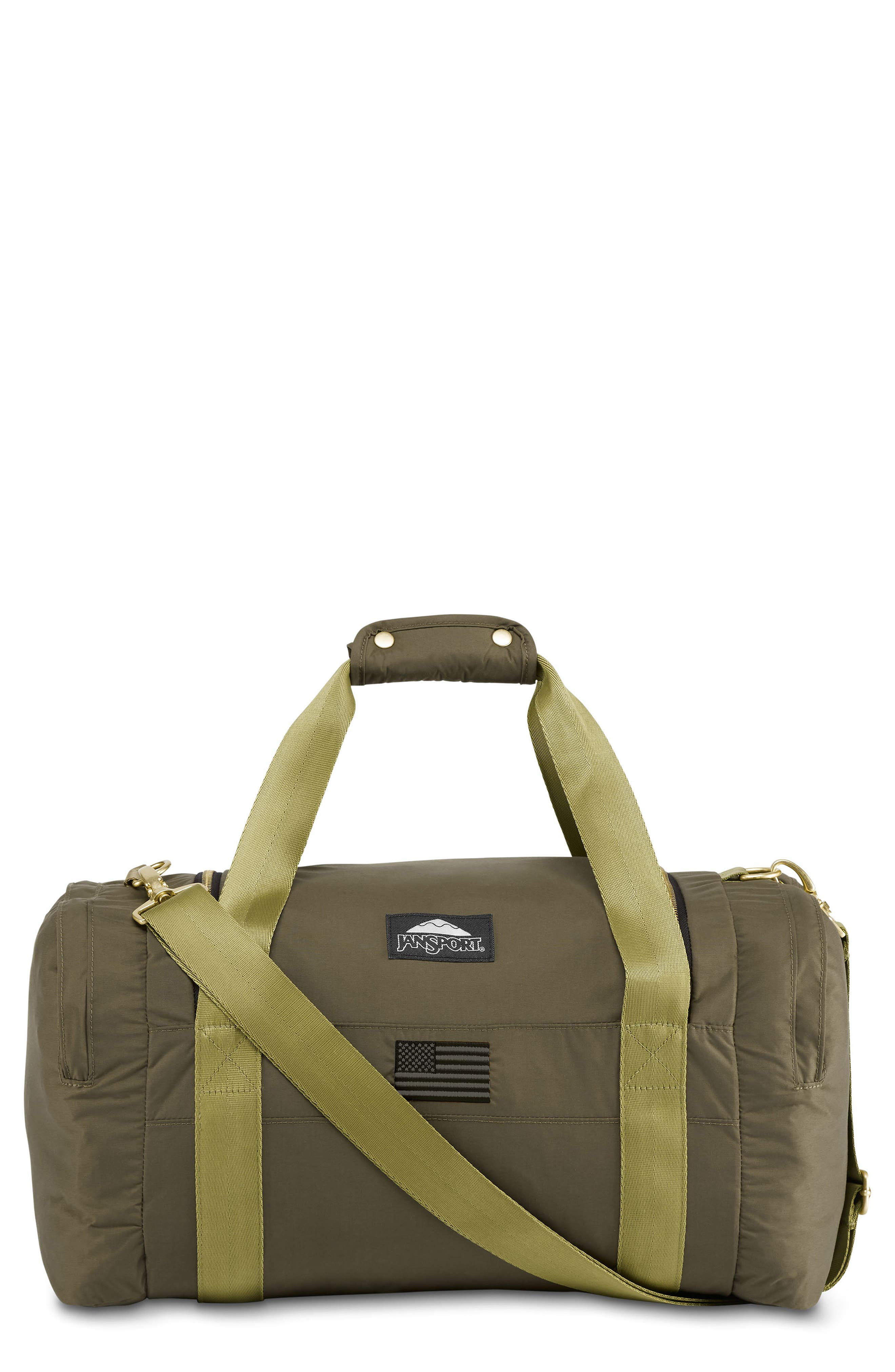 JANSPORT Standard Issue Hipster Duffel Bag in Alpha Green