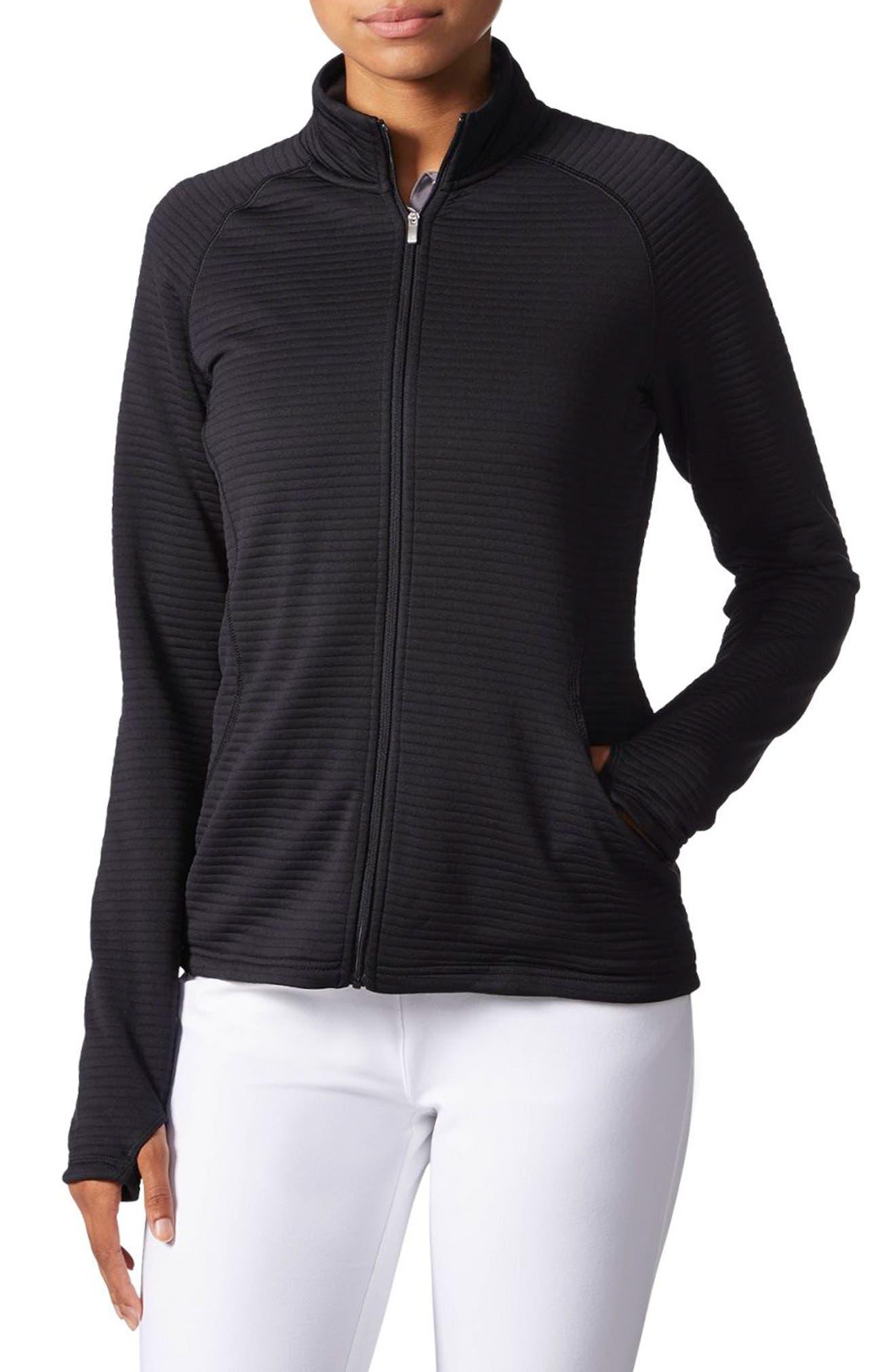 Zip Jacket,                         Main,                         color, BLACK