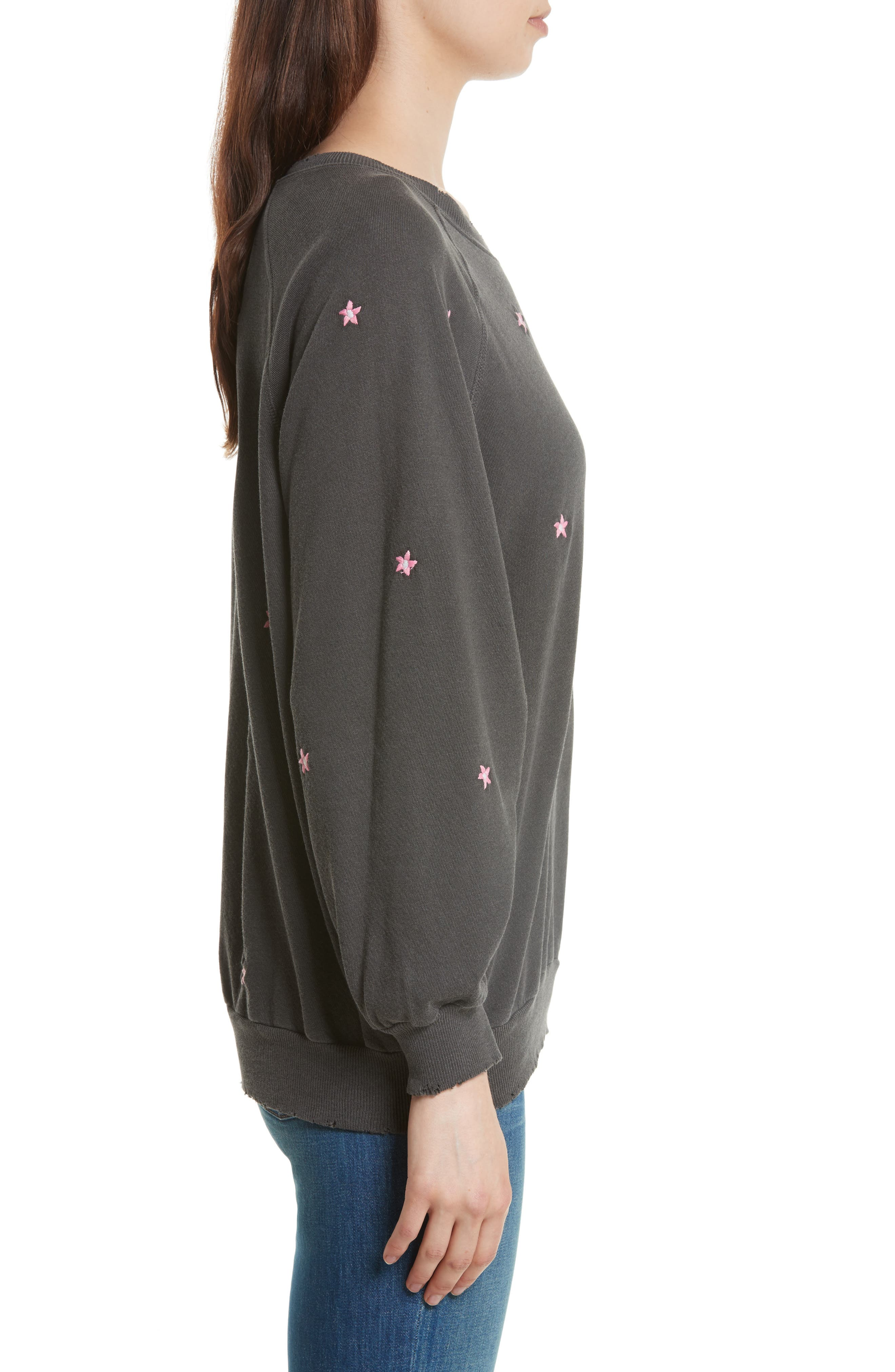 The Embroidered Bubble Sweatshirt,                             Alternate thumbnail 3, color,                             001