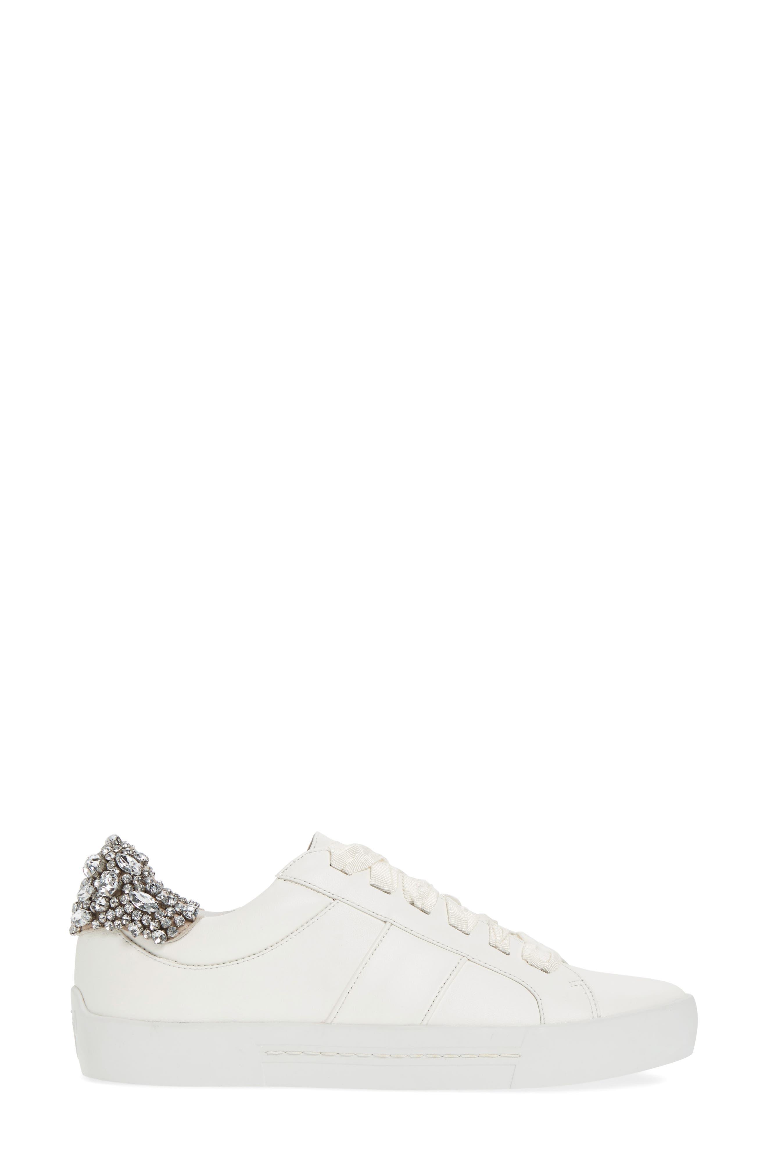 Darena Crystal Embellished Sneaker,                             Alternate thumbnail 6, color,