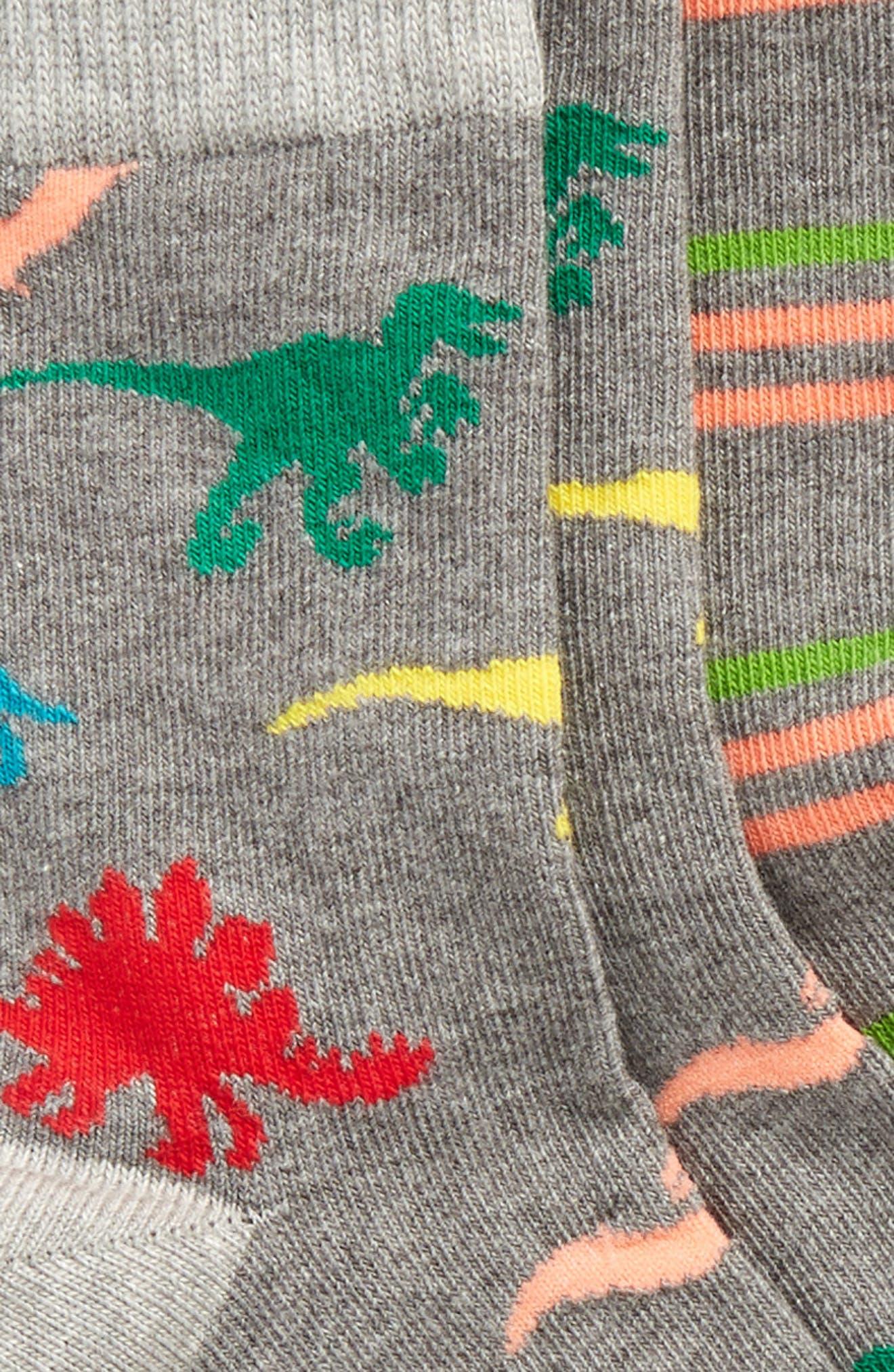 3-Pack Critter Crew Socks,                             Alternate thumbnail 2, color,                             098