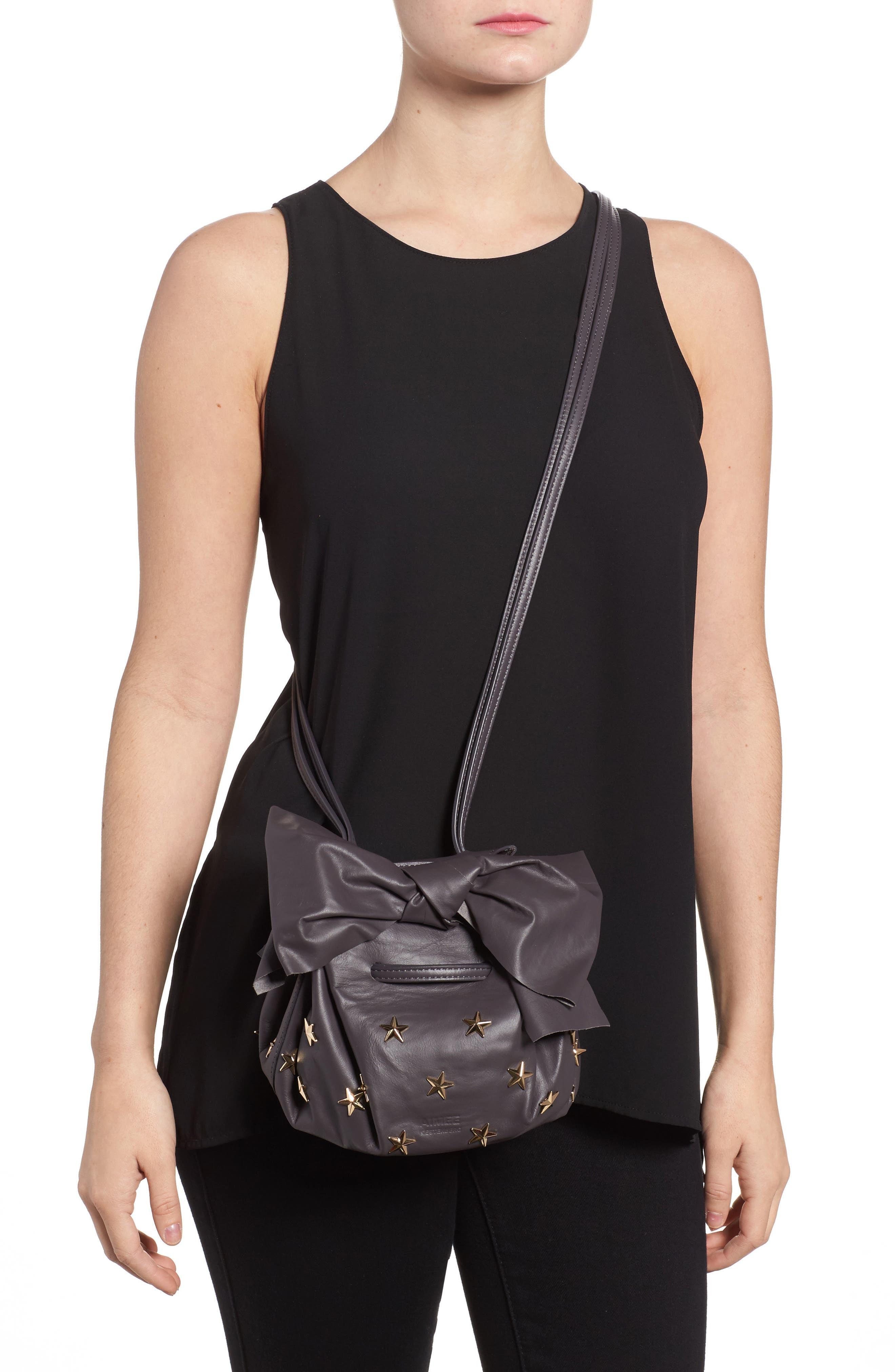 Soirée Star Stud Leather Crossbody Bag,                             Alternate thumbnail 2, color,                             020