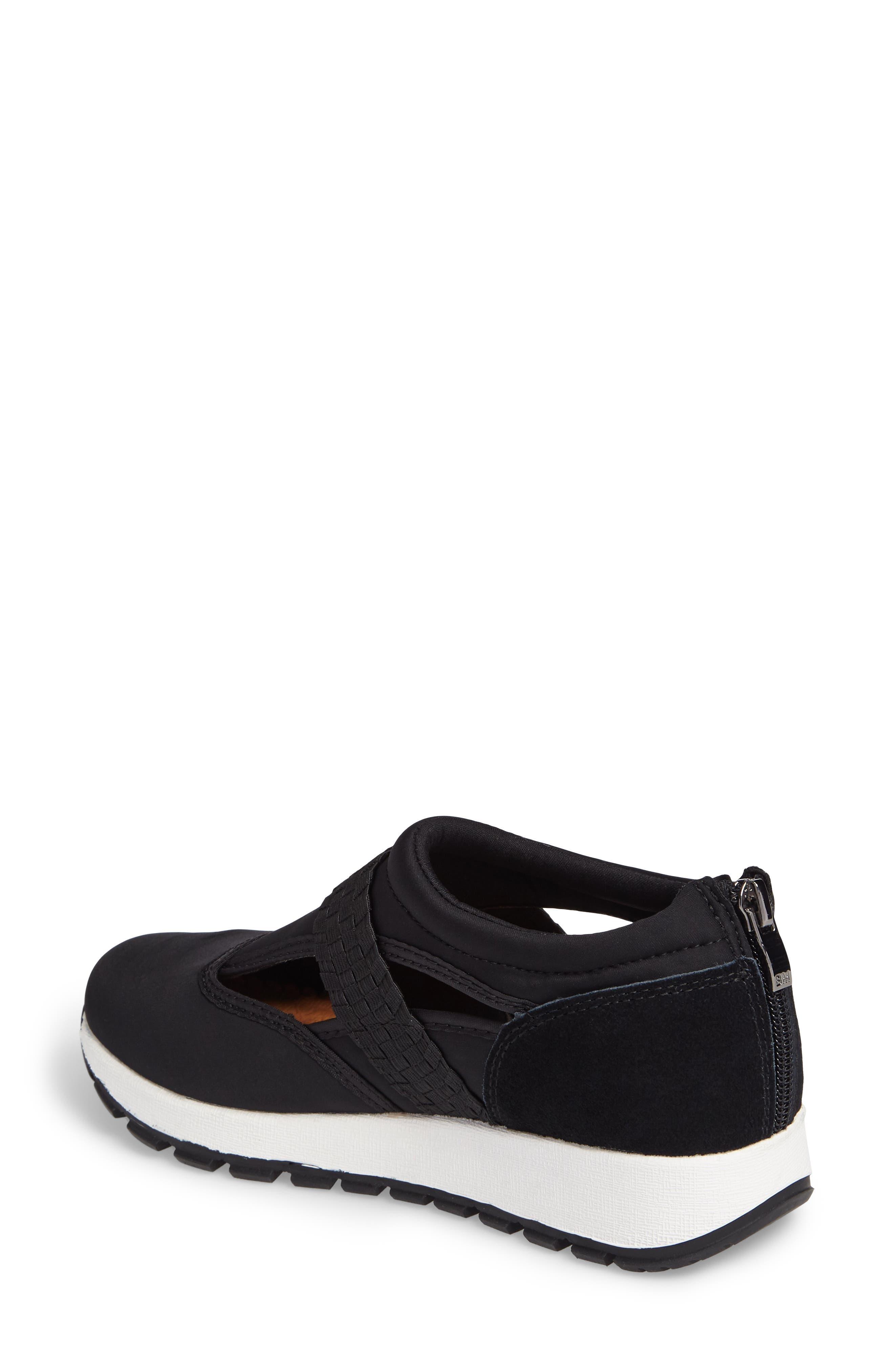 Bernie Mev Janelle Sneaker,                             Alternate thumbnail 2, color,                             BLACK FABRIC