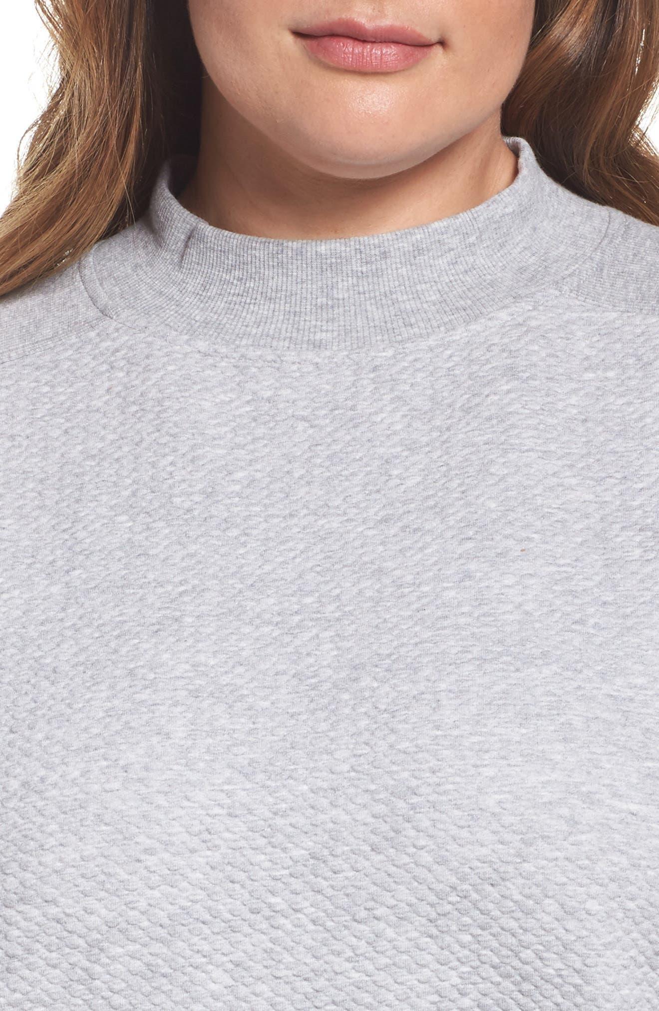 Textured Sweatshirt,                             Alternate thumbnail 4, color,                             050