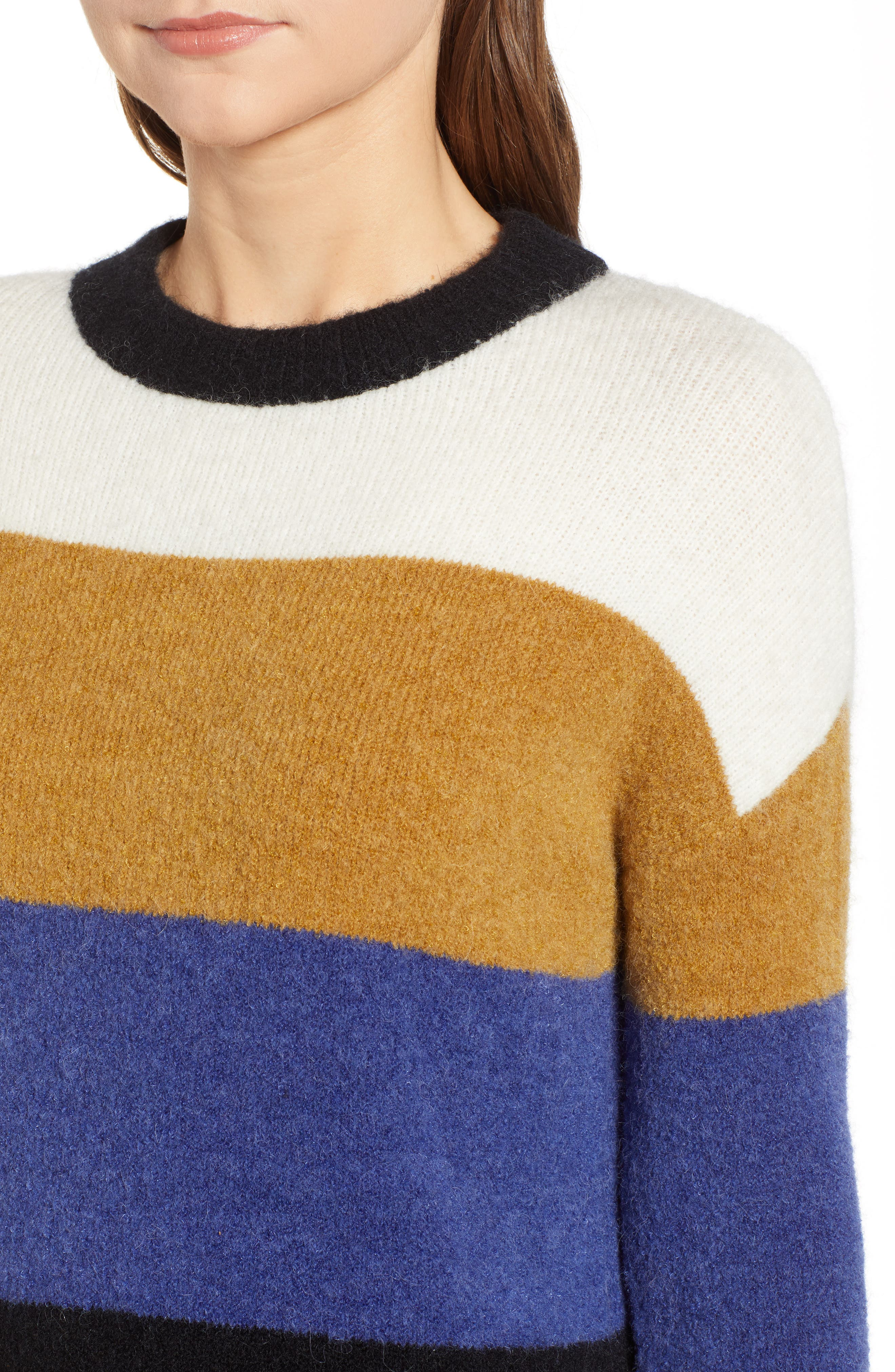 RAILS,                             Sylvie Stripe Sweater,                             Alternate thumbnail 5, color,                             900