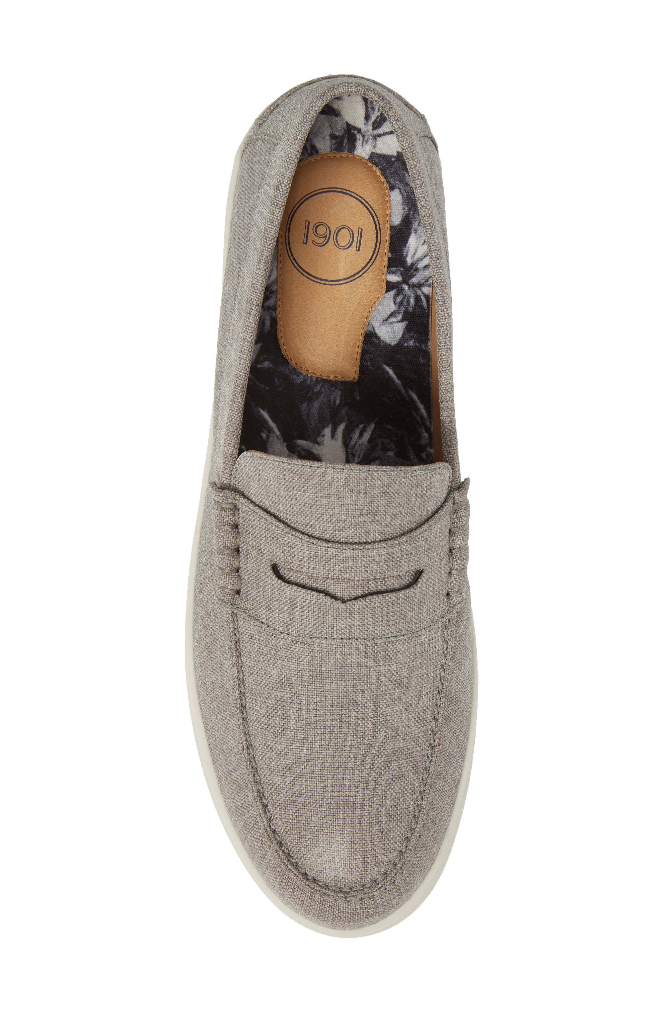 Chelan Penny Loafer,                             Alternate thumbnail 5, color,                             GREY CANVAS