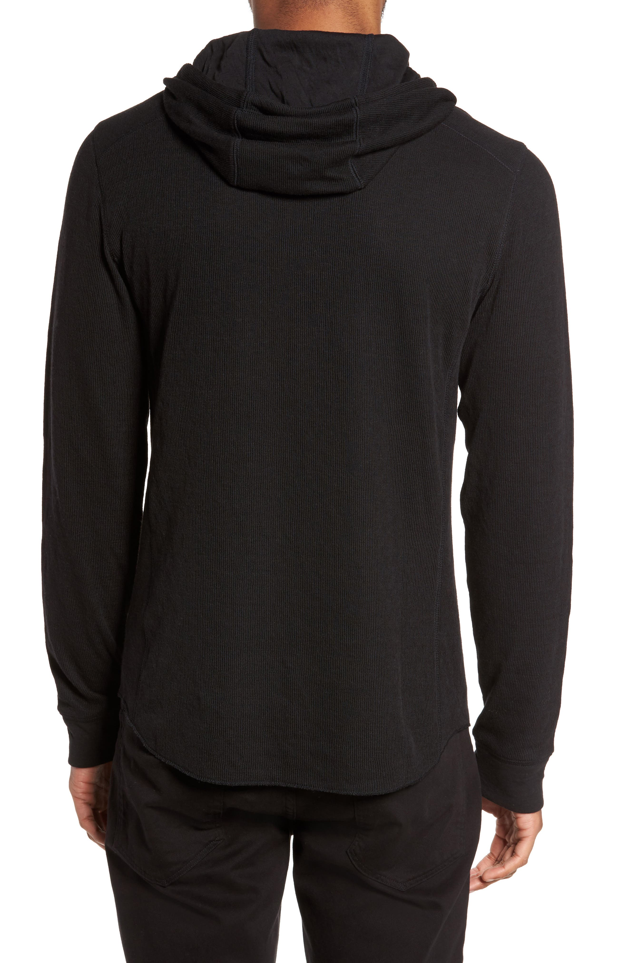 Double Knit Hoodie,                             Alternate thumbnail 2, color,                             001
