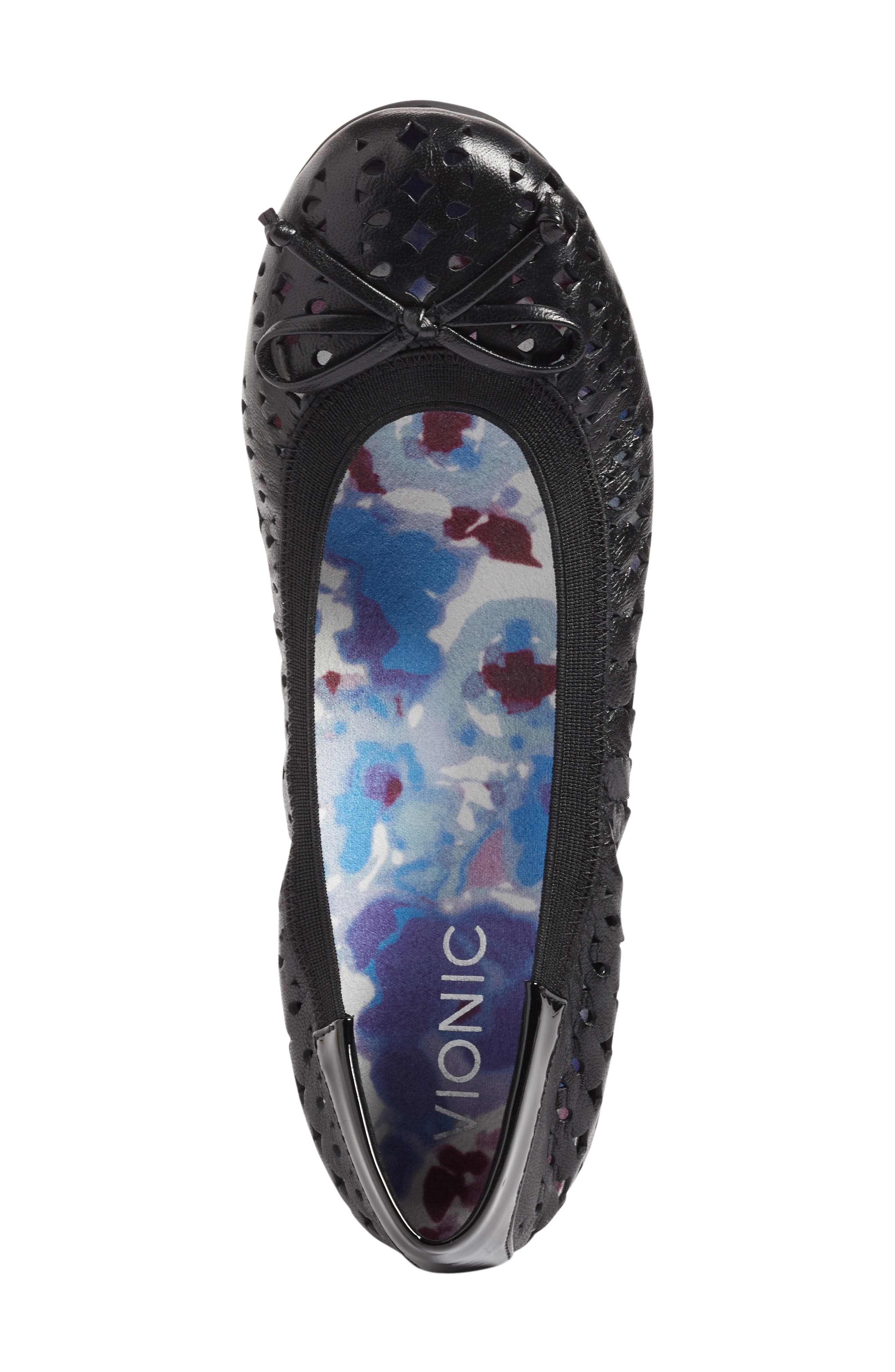 'Surin' Perforated Ballet Flat,                             Alternate thumbnail 17, color,