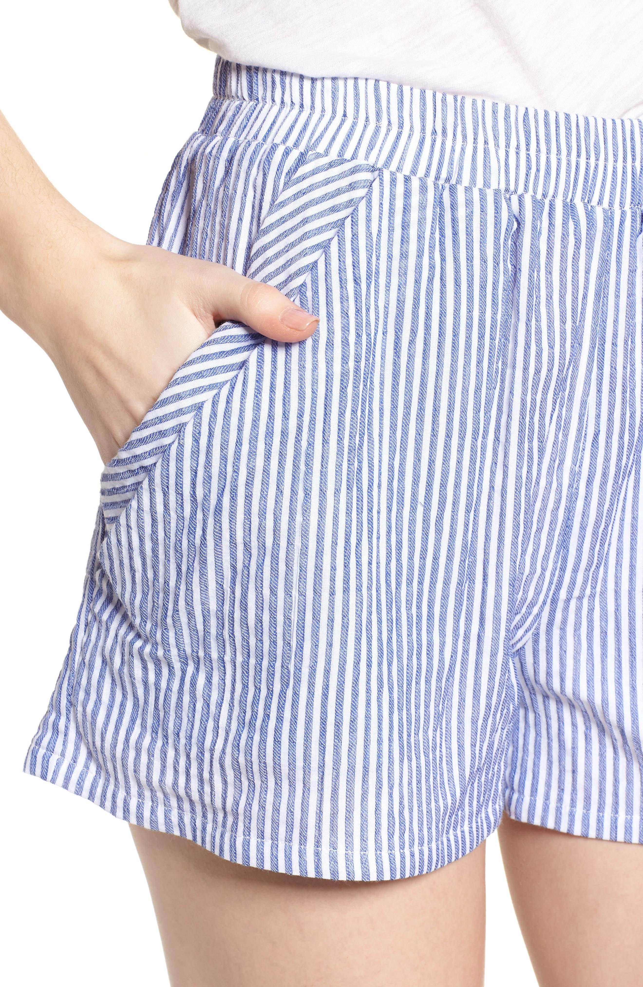 Bishop + Young Stripe Shorts,                             Alternate thumbnail 4, color,                             400