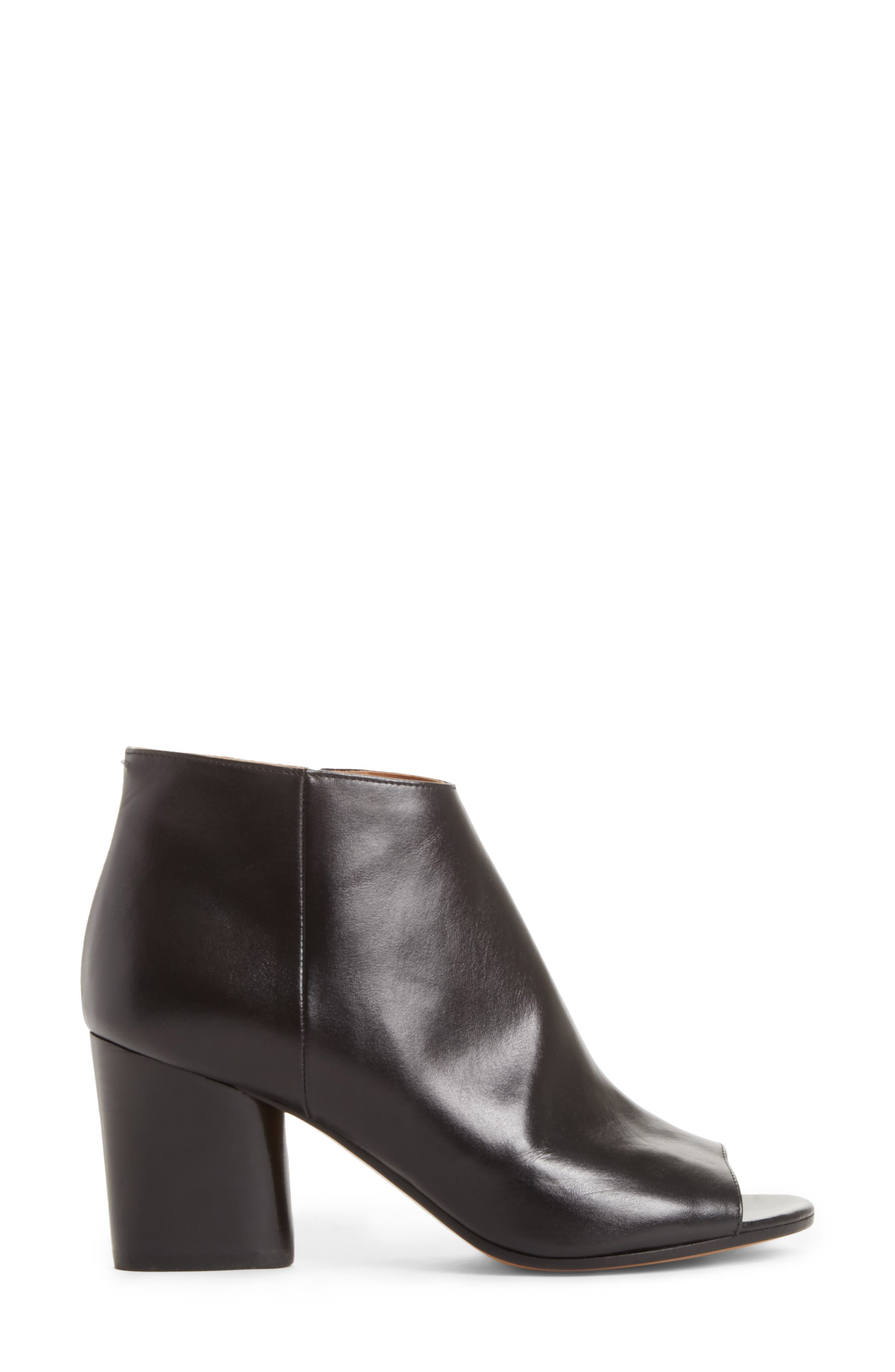 Open Toe Ankle Boot,                             Alternate thumbnail 3, color,                             001