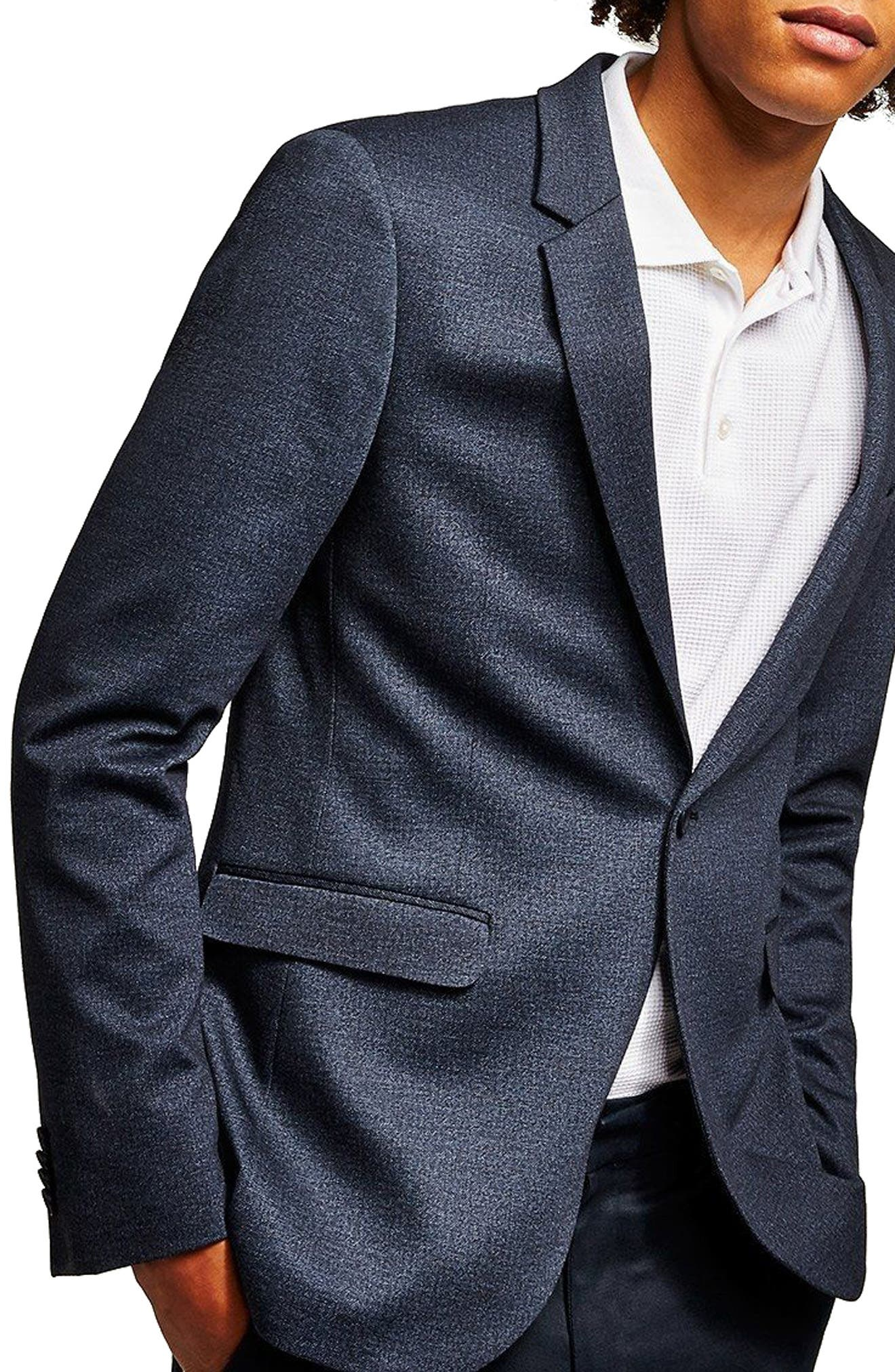 Classic Fit Sport Coat,                         Main,                         color, DARK BLUE
