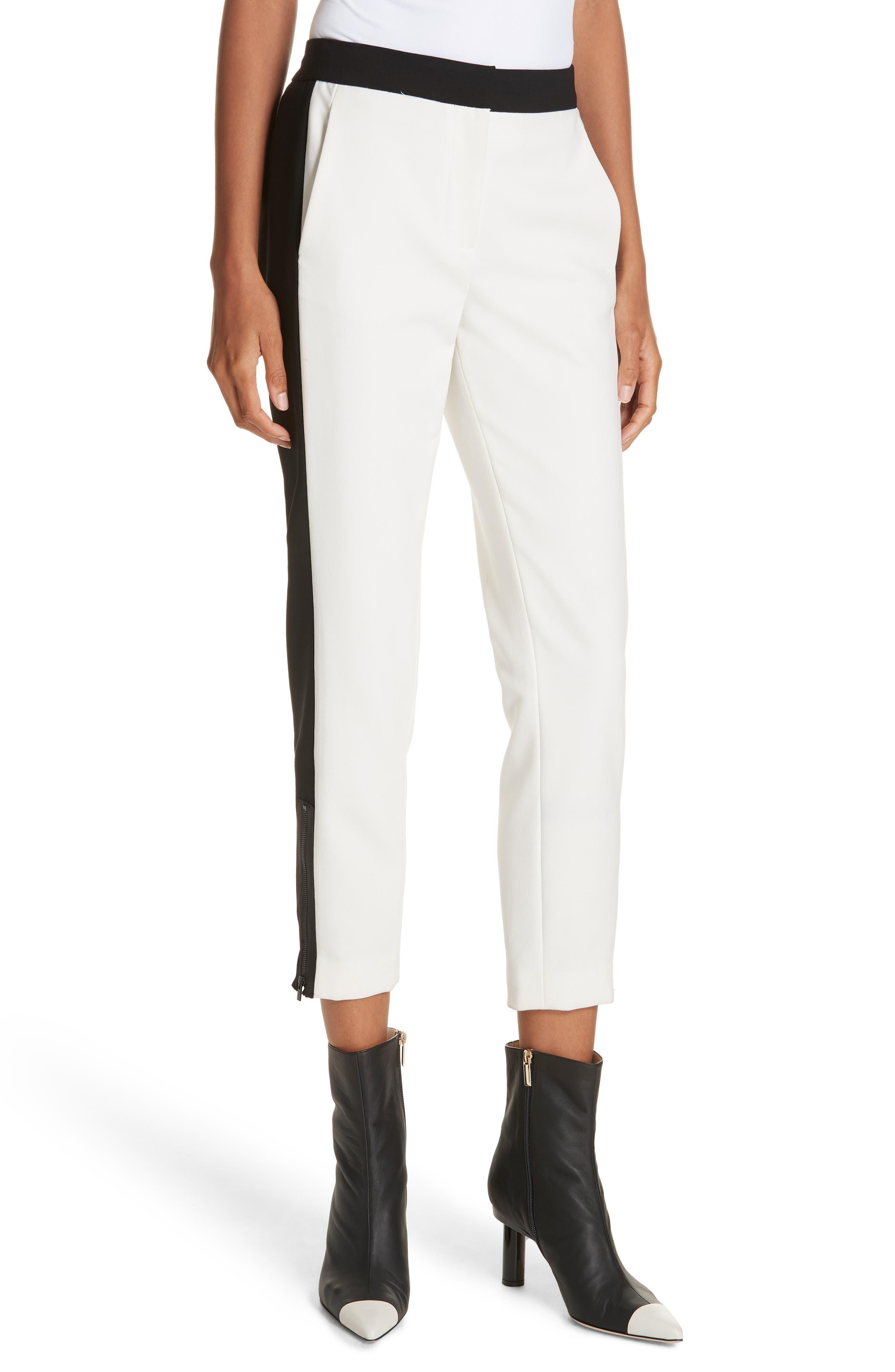 Anson Tuxedo Skinny Pants,                         Main,                         color, IVORY MULTI