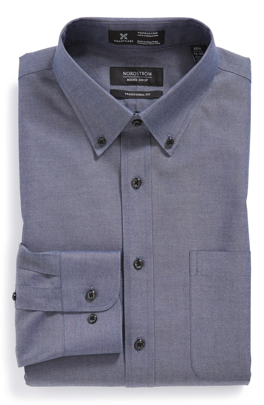 Smartcare<sup>™</sup> Traditional Fit Pinpoint Dress Shirt,                             Main thumbnail 19, color,