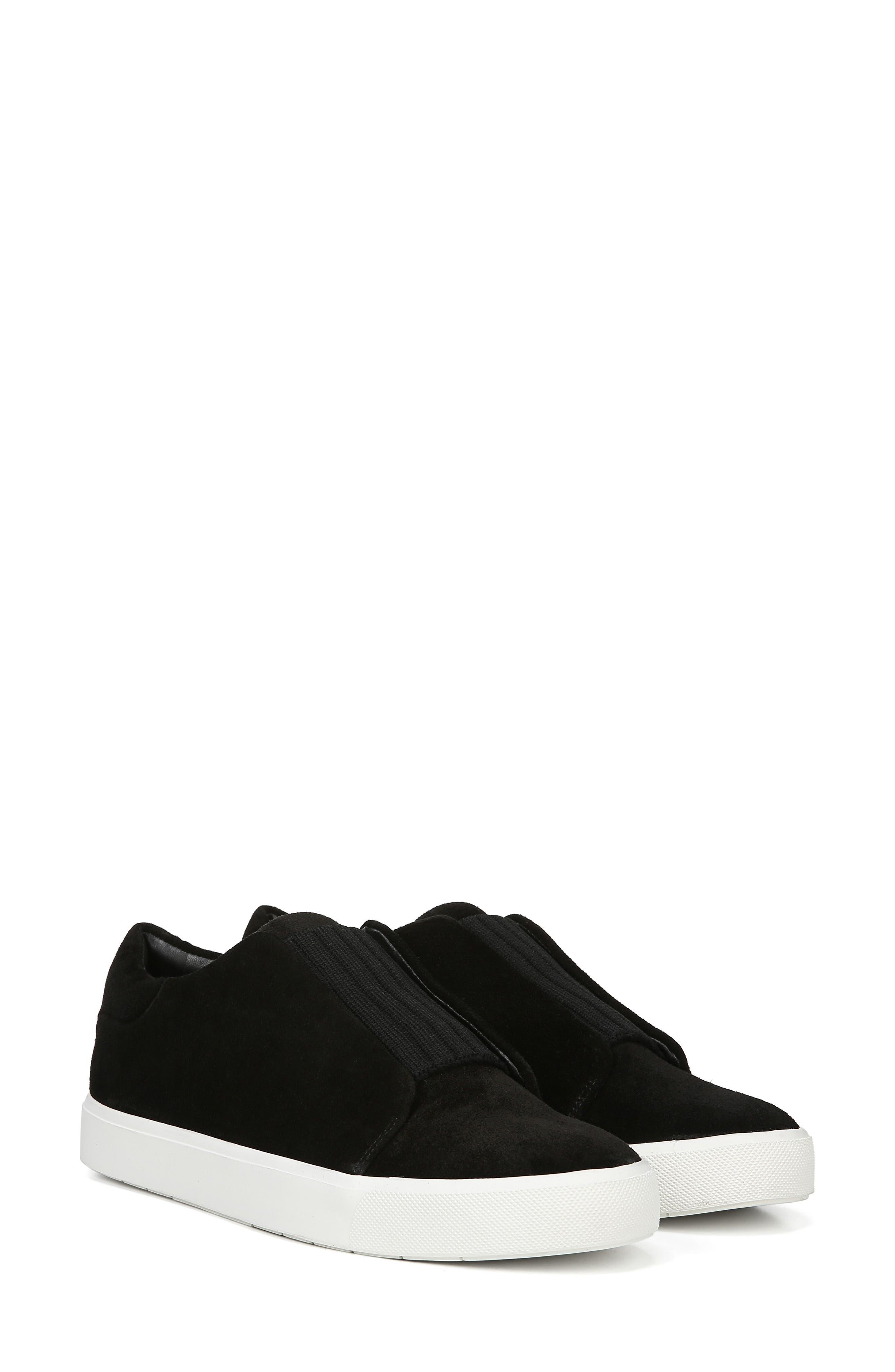 Cantara Slip-On Sneaker,                             Alternate thumbnail 9, color,                             BLACK SUEDE