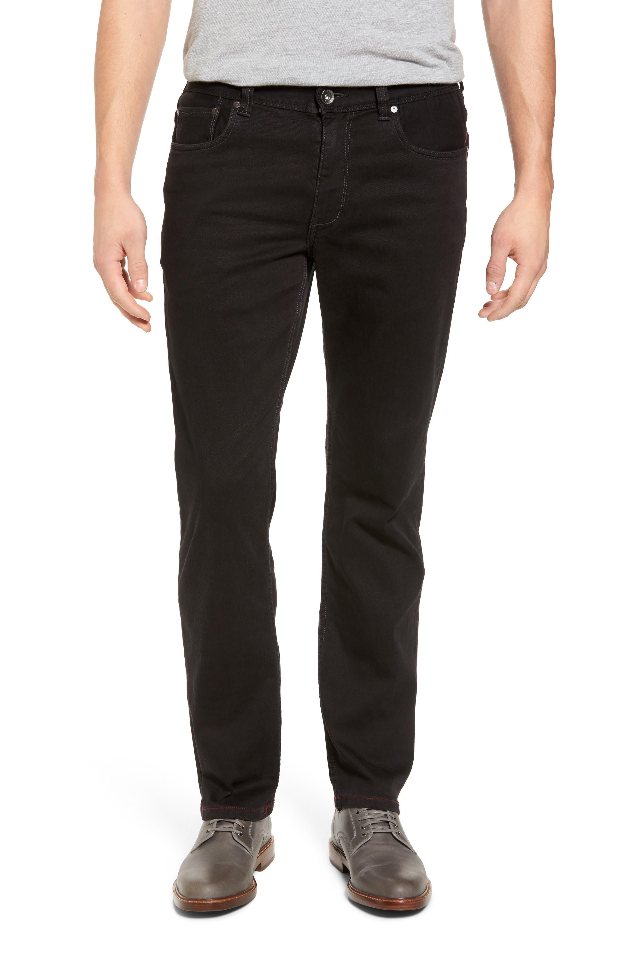 Sand Straight Leg Jeans,                             Main thumbnail 1, color,                             BLACK OVERDYE