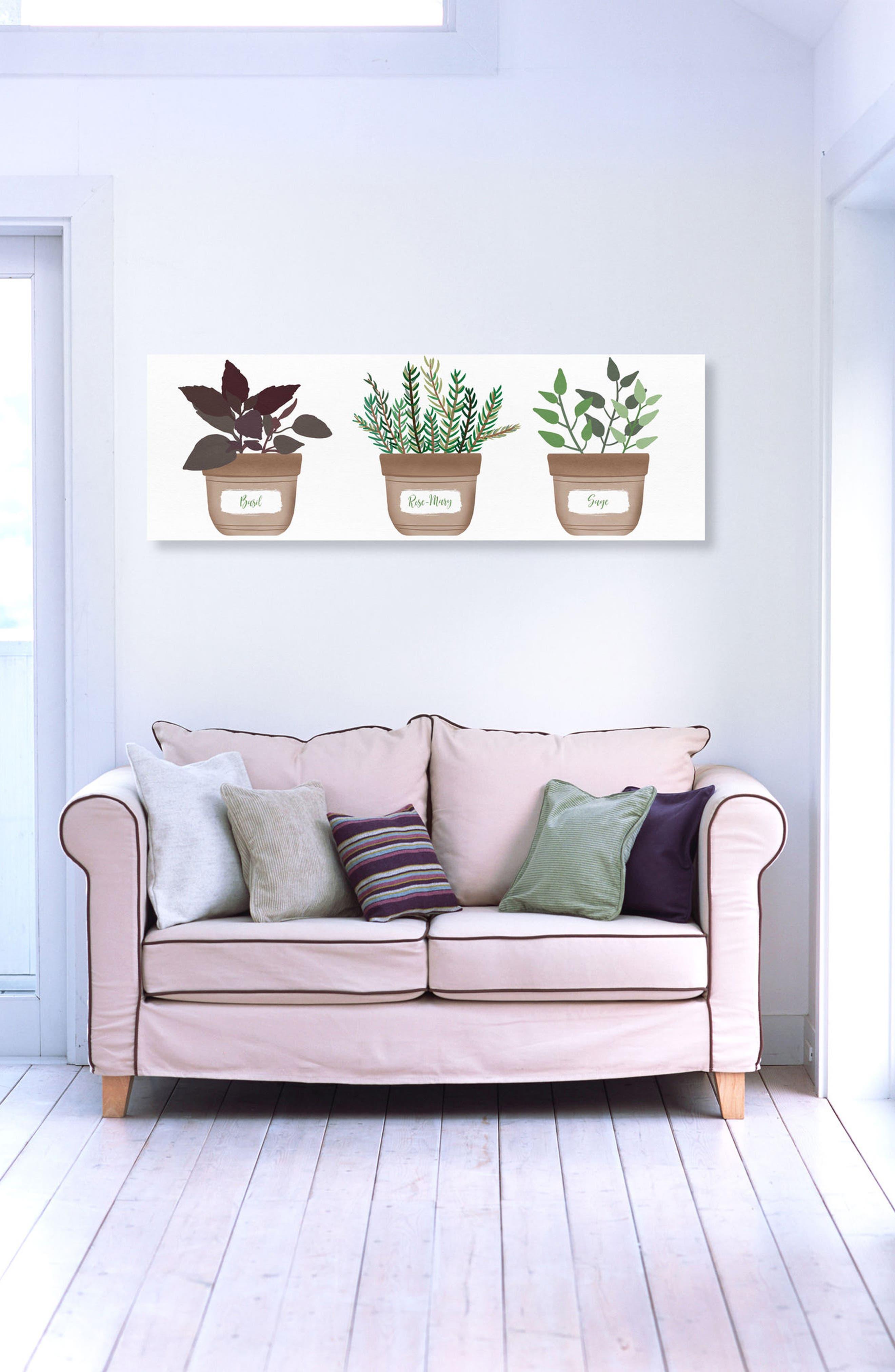 Herbs Canvas Wall Art,                             Alternate thumbnail 2, color,                             GREEN
