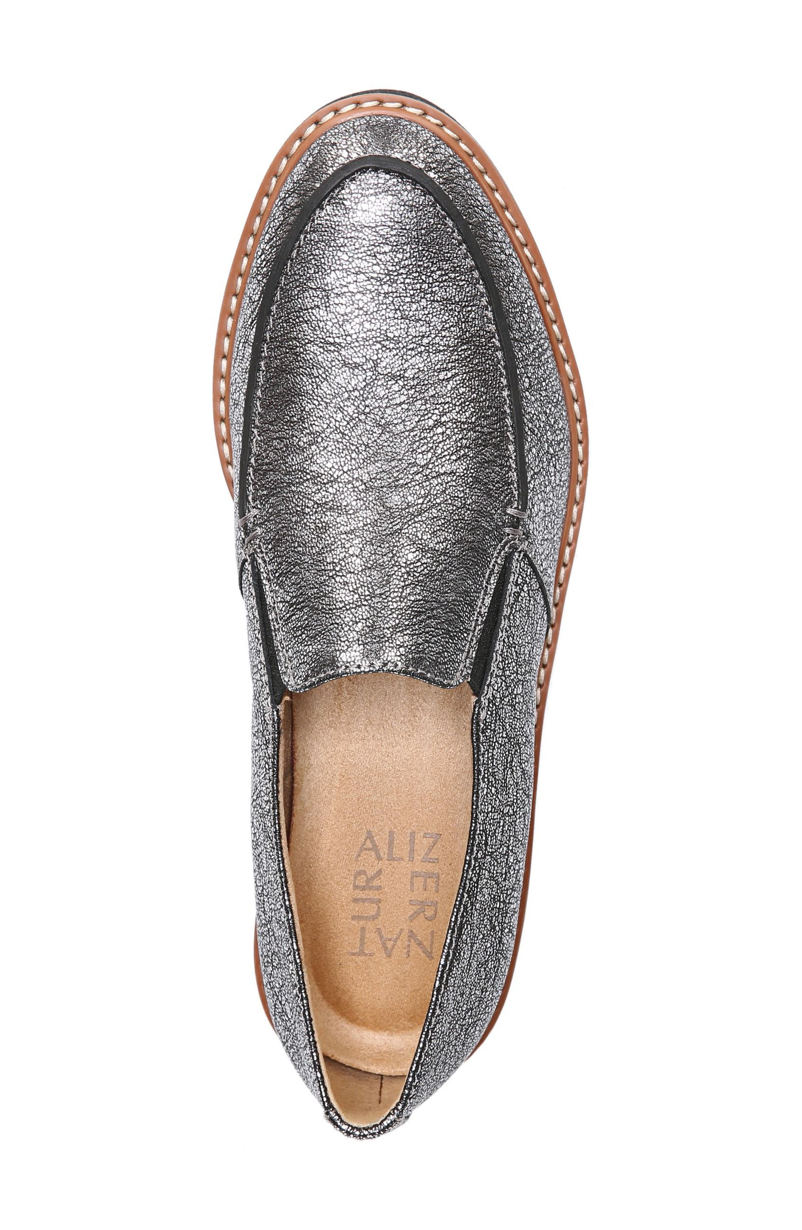 Aibileen Loafer,                             Alternate thumbnail 5, color,                             SILVER LEATHER