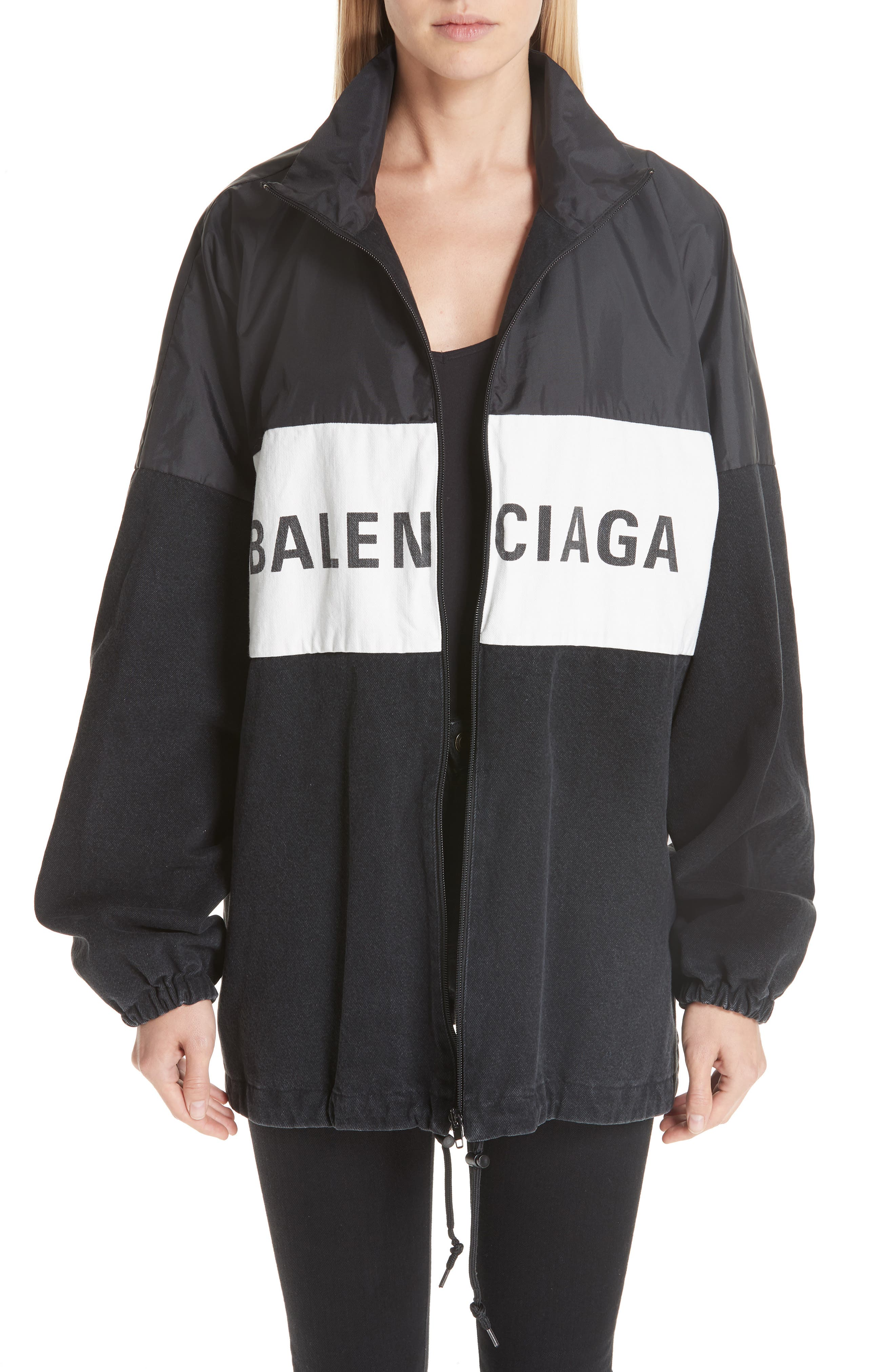 Denim Panel Jacket,                         Main,                         color, 001