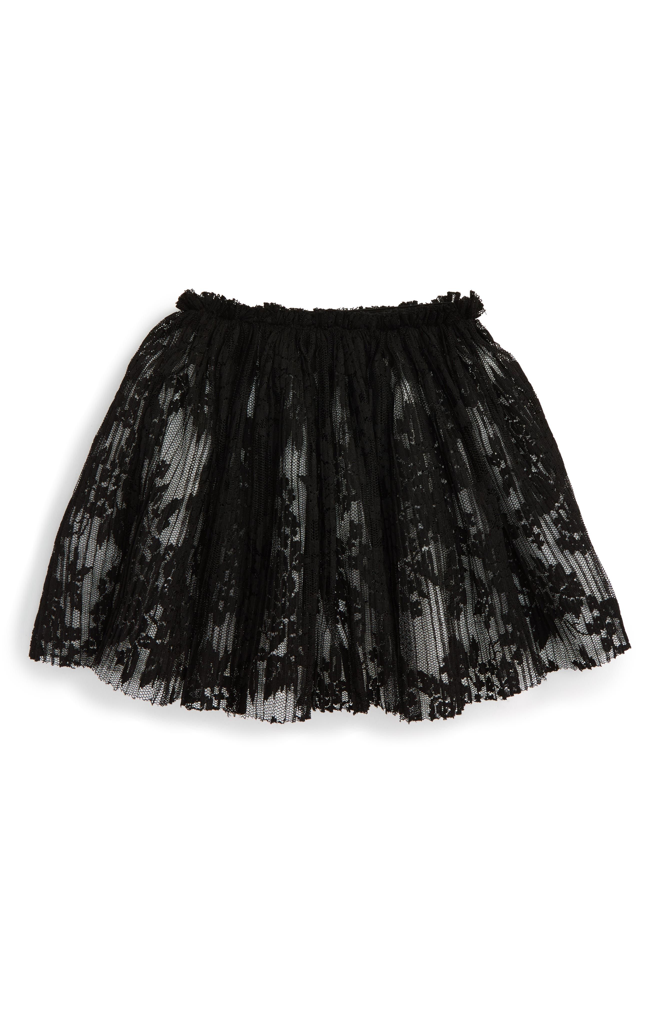 Lace Tutu Skirt,                         Main,                         color, BLACK