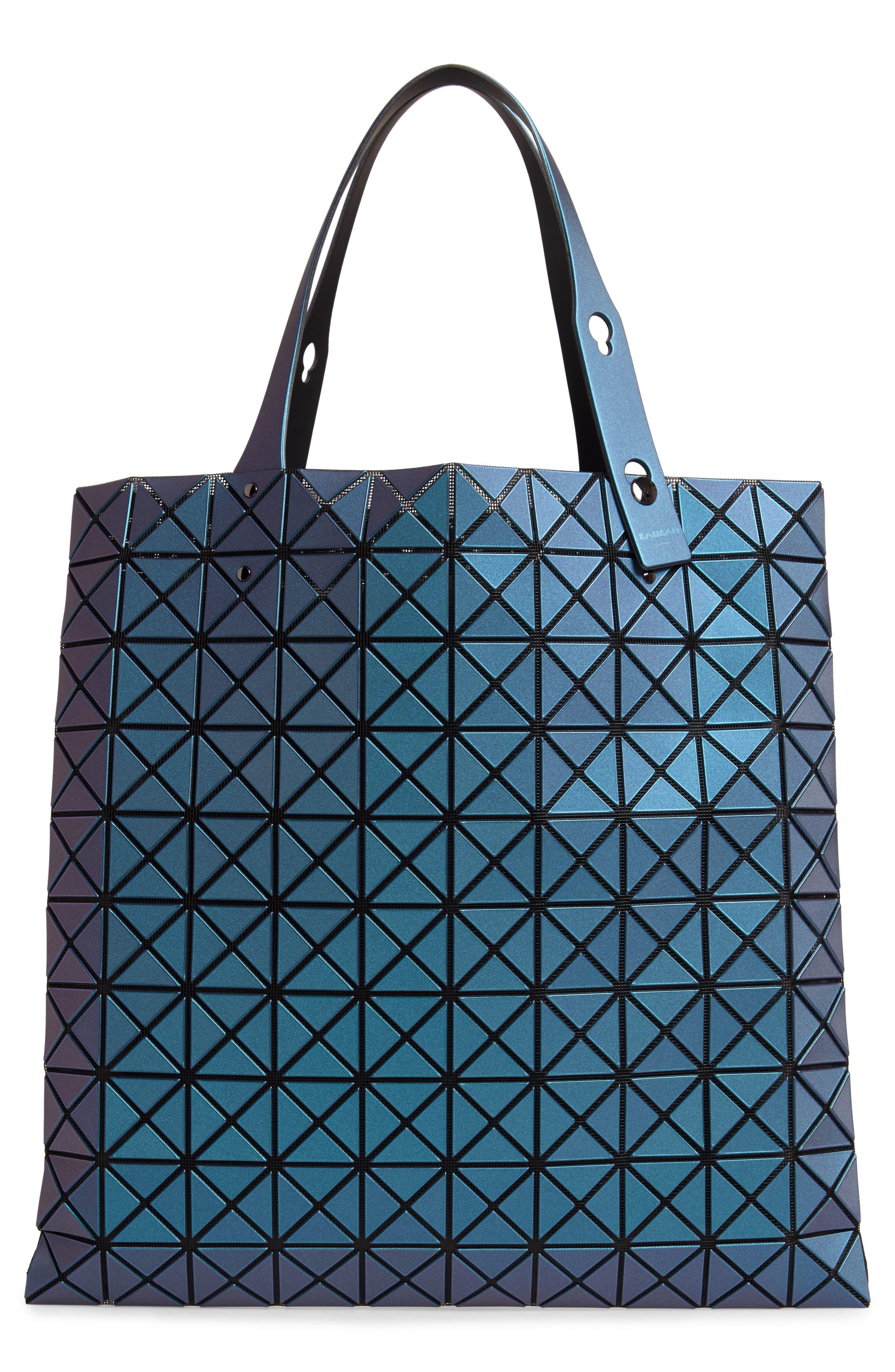 Prism Metallic Tote Bag,                             Alternate thumbnail 3, color,                             BLUE