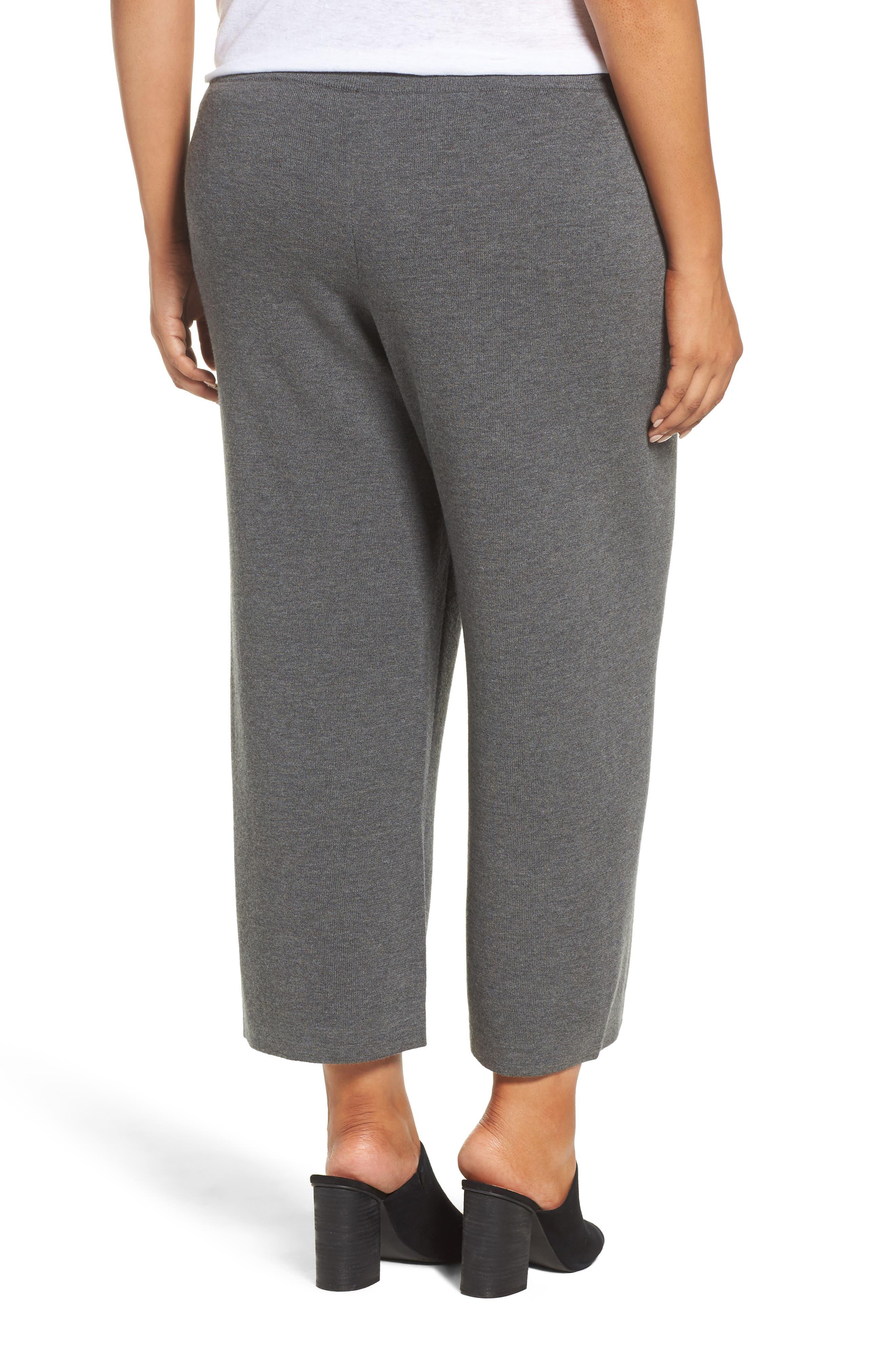 Wide Leg Crop Wool Pants,                             Alternate thumbnail 4, color,