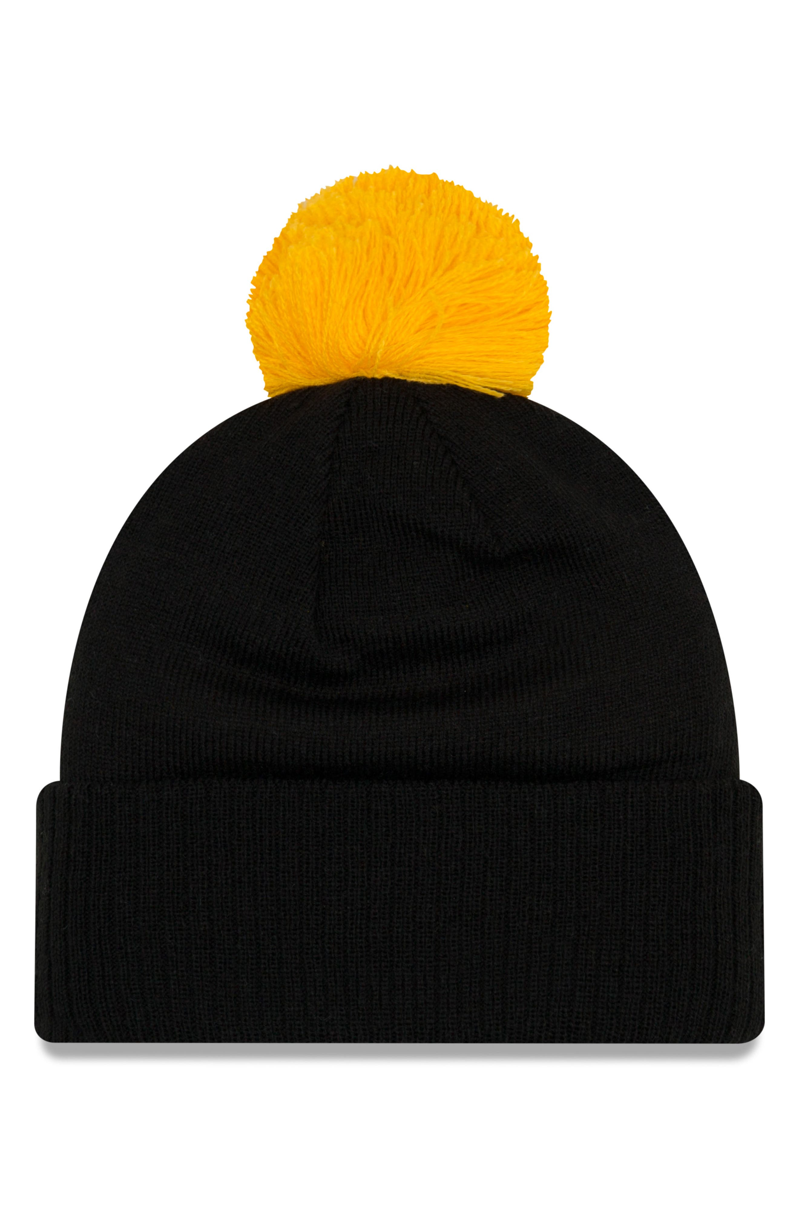 NFL Pom Beanie,                             Alternate thumbnail 2, color,                             PITTSBURGH STEELERS