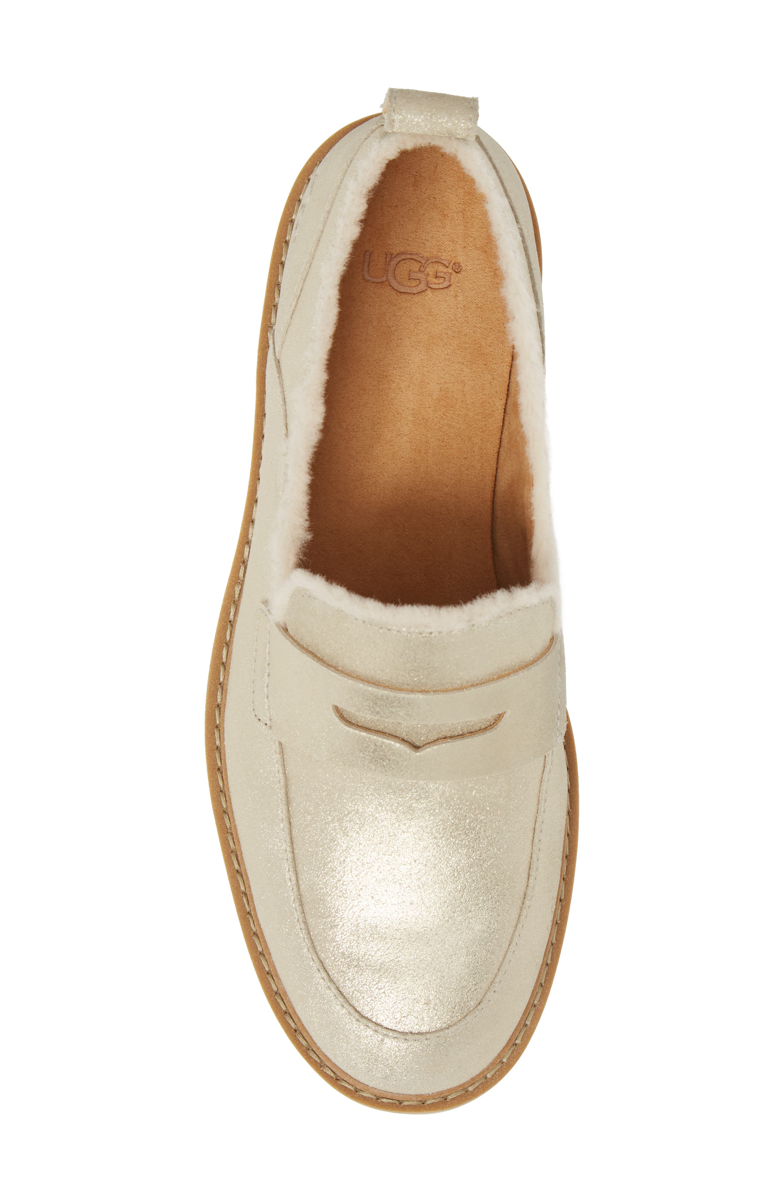 Atwater Metallic Wedge Loafer,                             Alternate thumbnail 5, color,                             710
