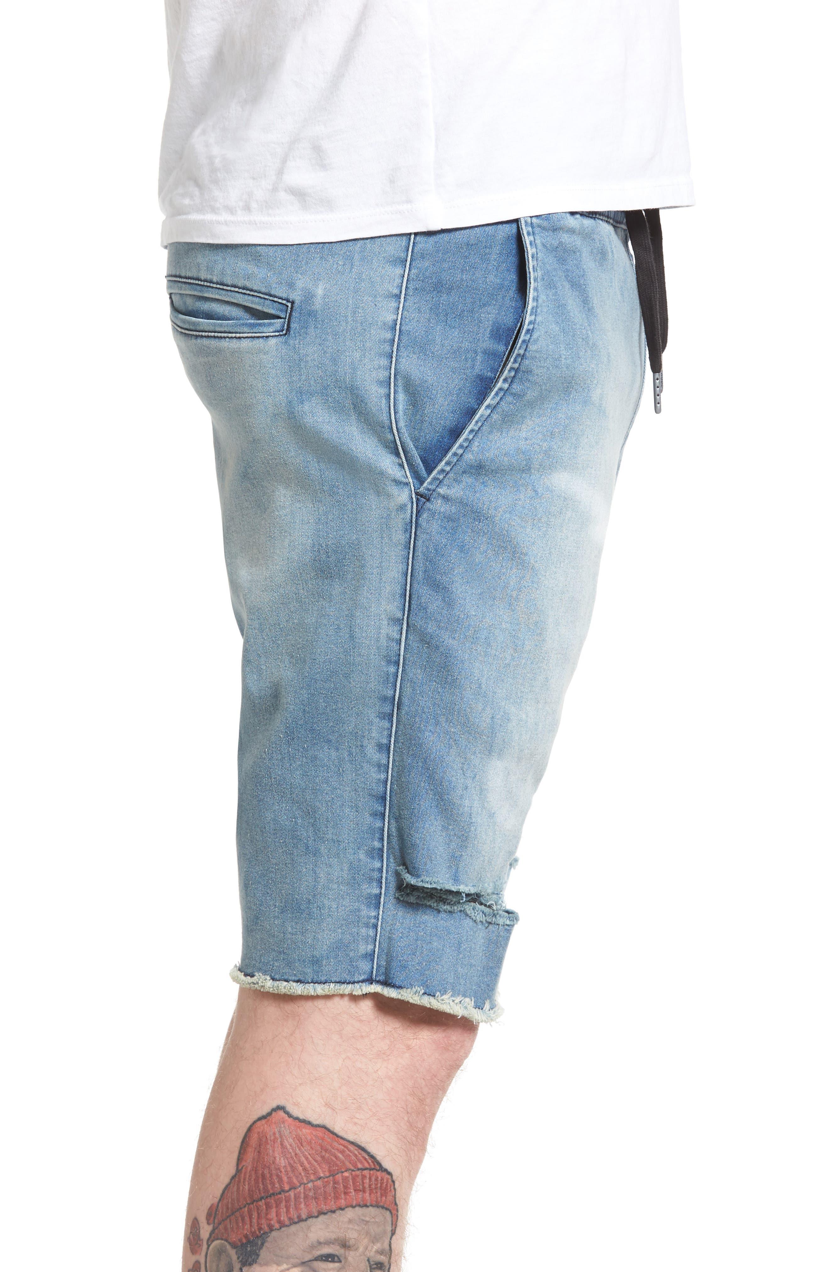 Sureshot Denim Shorts,                             Alternate thumbnail 3, color,                             430