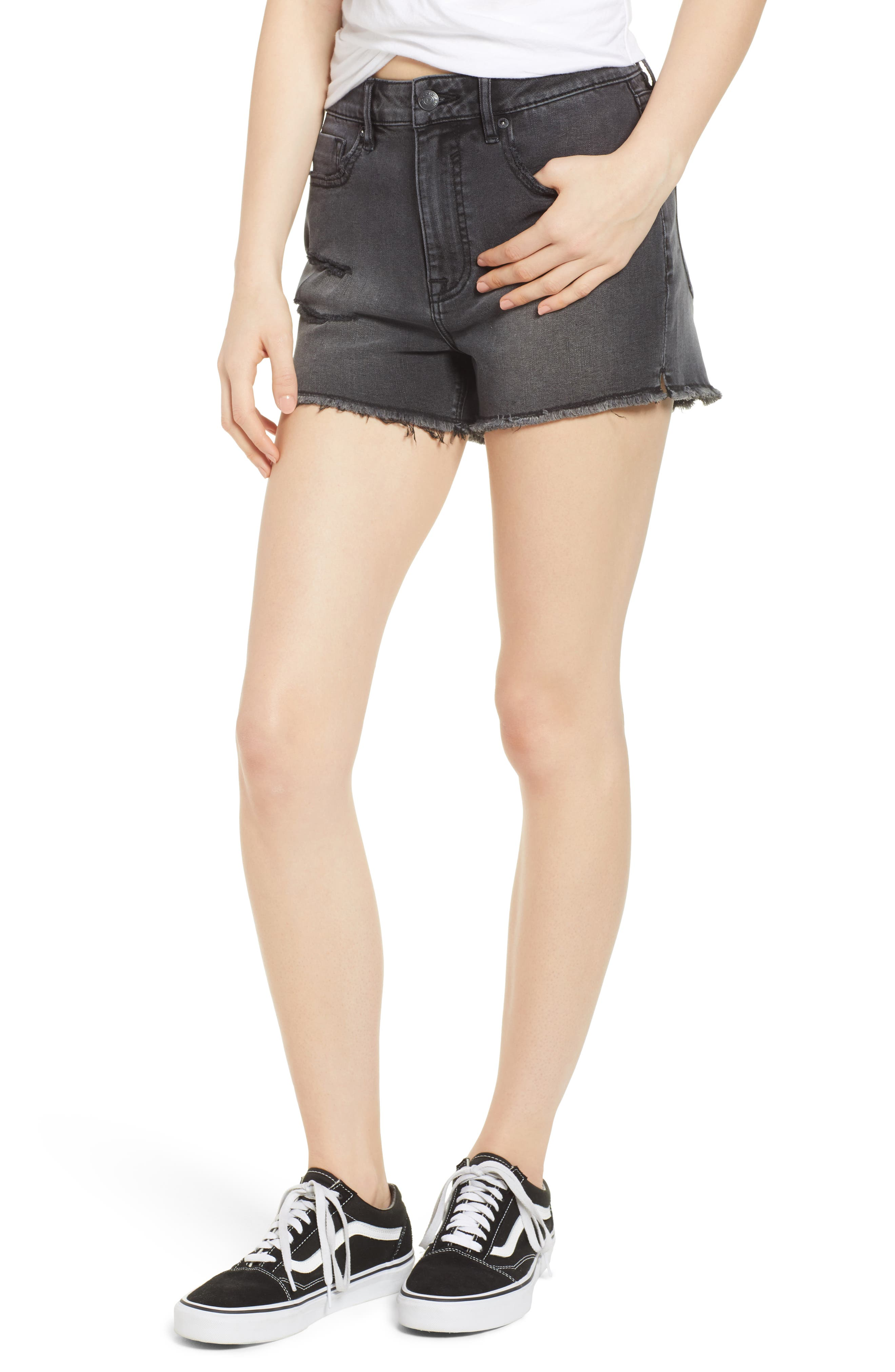 Jagger High Waist Denim Shorts,                         Main,                         color, 001