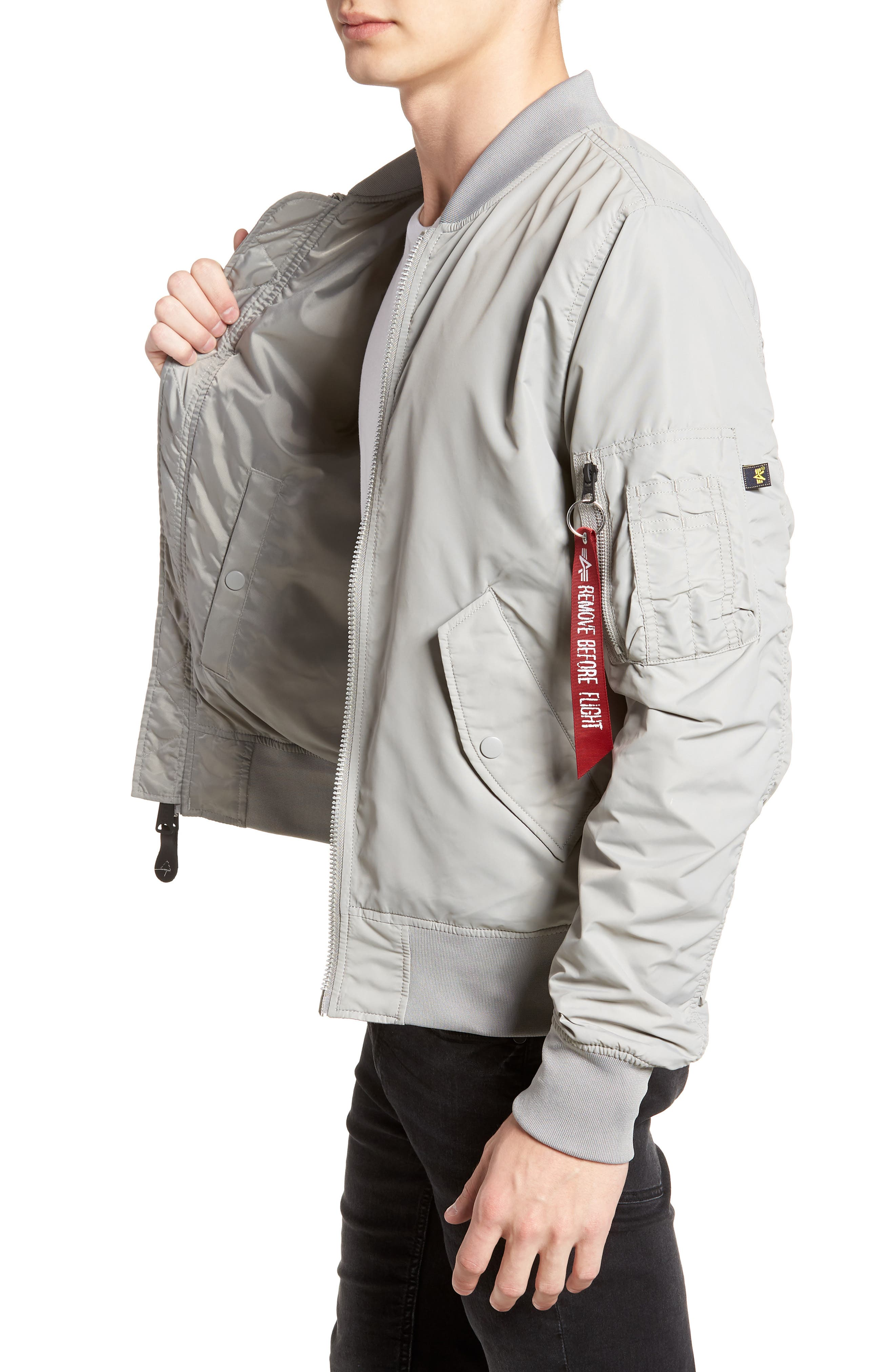 ALPHA INDUSTRIES,                             'L-2B - Dragonfly' Water Resistant Reversible Flight Jacket,                             Alternate thumbnail 3, color,                             020