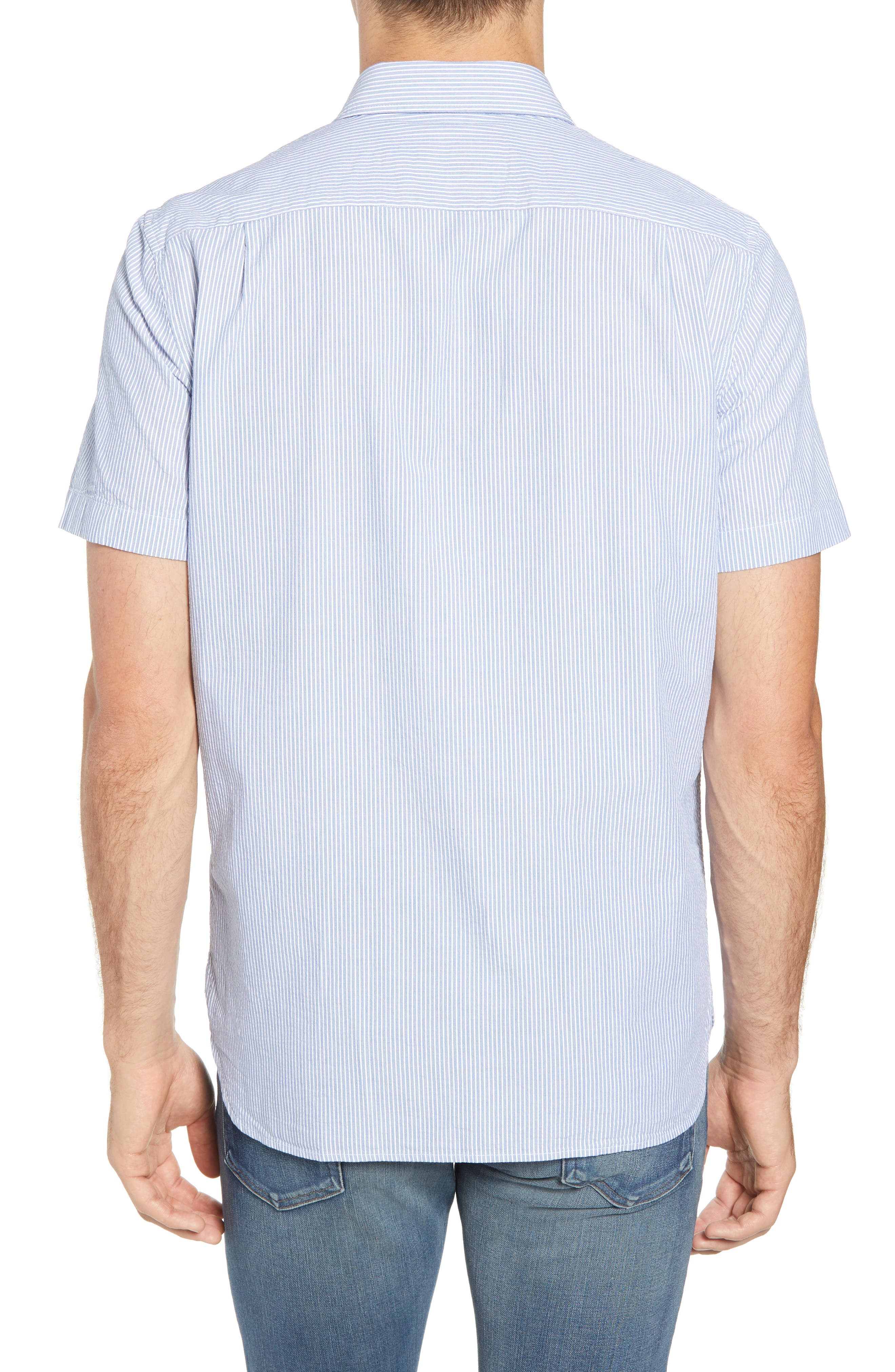 Regular Fit Seersucker Sport Shirt,                             Alternate thumbnail 2, color,                             400