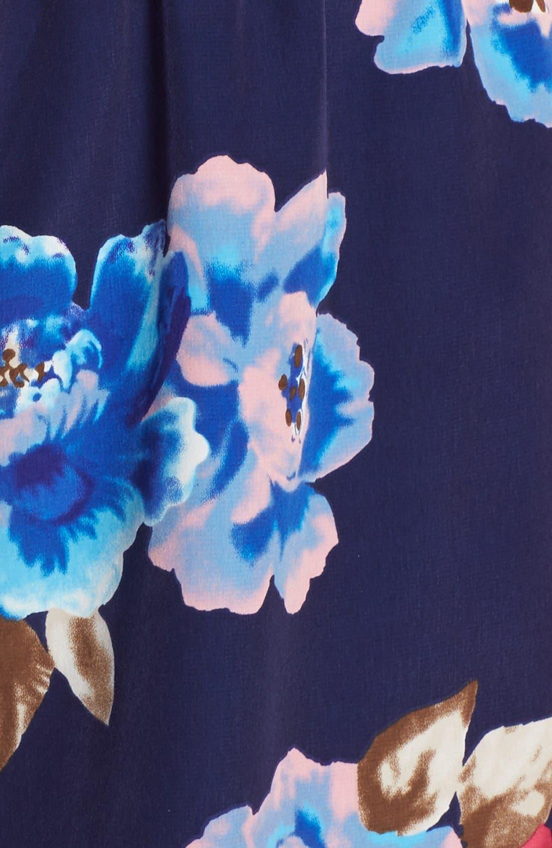 Short Sleeve Floral Print Romper,                             Alternate thumbnail 4, color,                             473