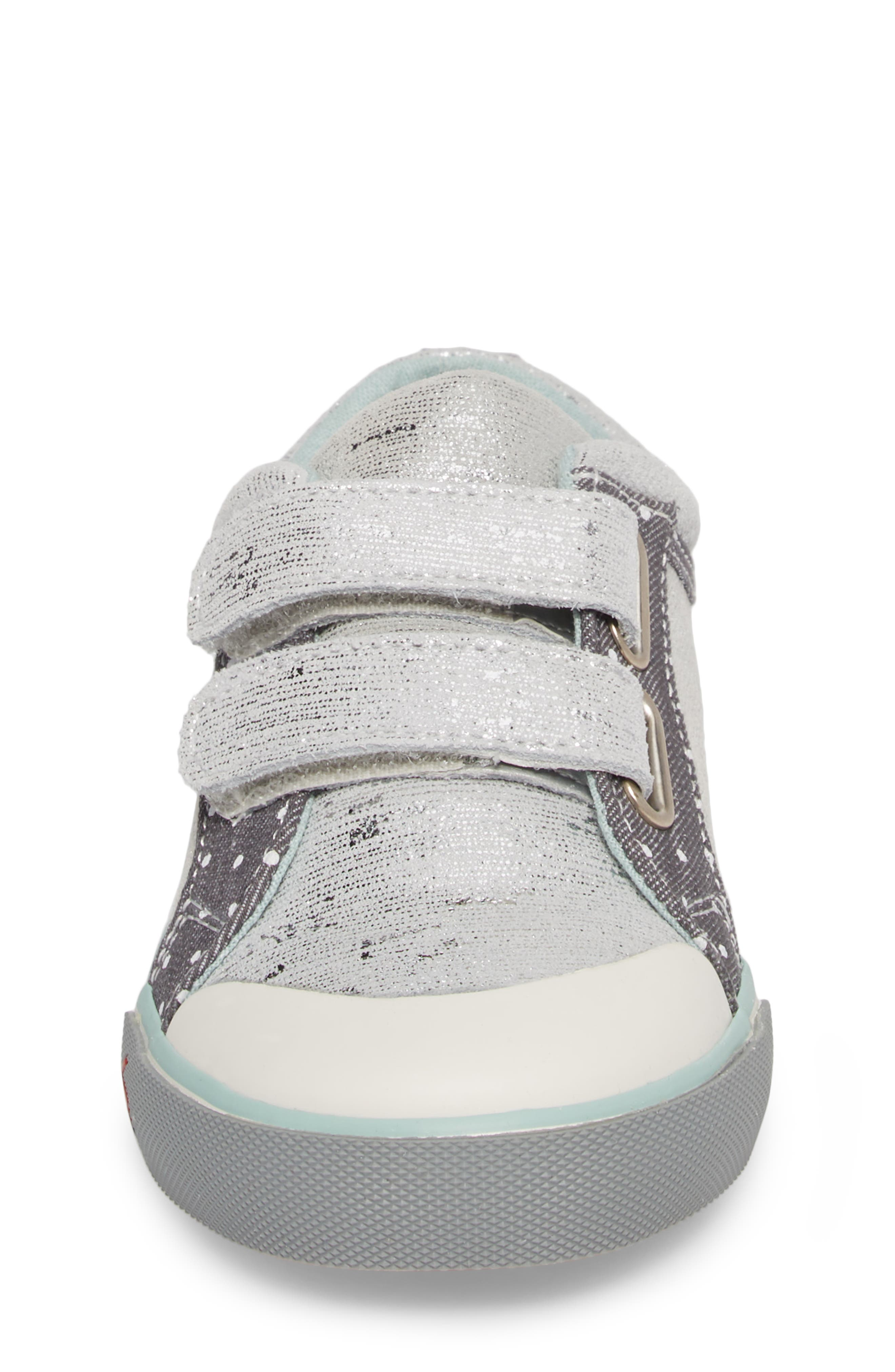 Robyne Sneaker,                             Alternate thumbnail 4, color,                             SILVER LEATHER