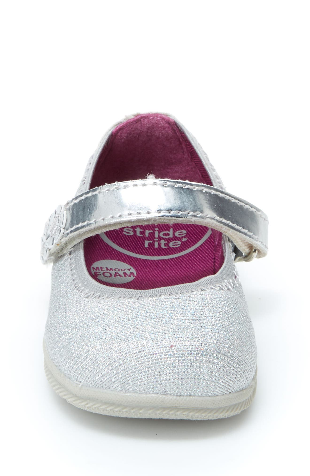 Lil Layla Mary Jane Flat,                             Alternate thumbnail 3, color,                             SILVER