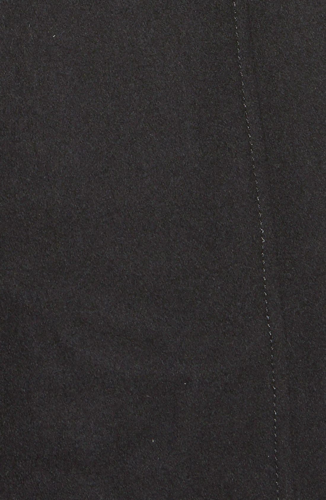 GUESS,                             Belted Asymmetrical Wool Blend Trench Coat,                             Alternate thumbnail 2, color,                             001
