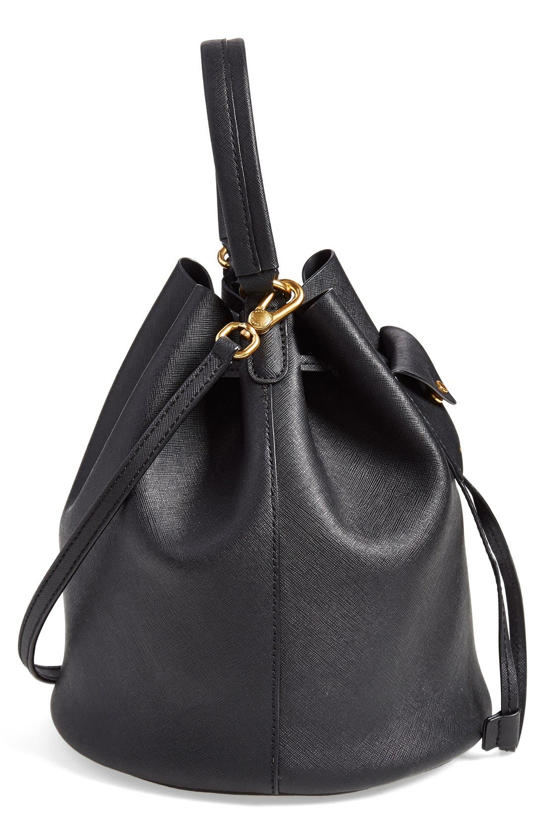 MARC BY MARC JACOBS 'Metropoli' Leather Bucket Bag,                             Alternate thumbnail 2, color,                             001