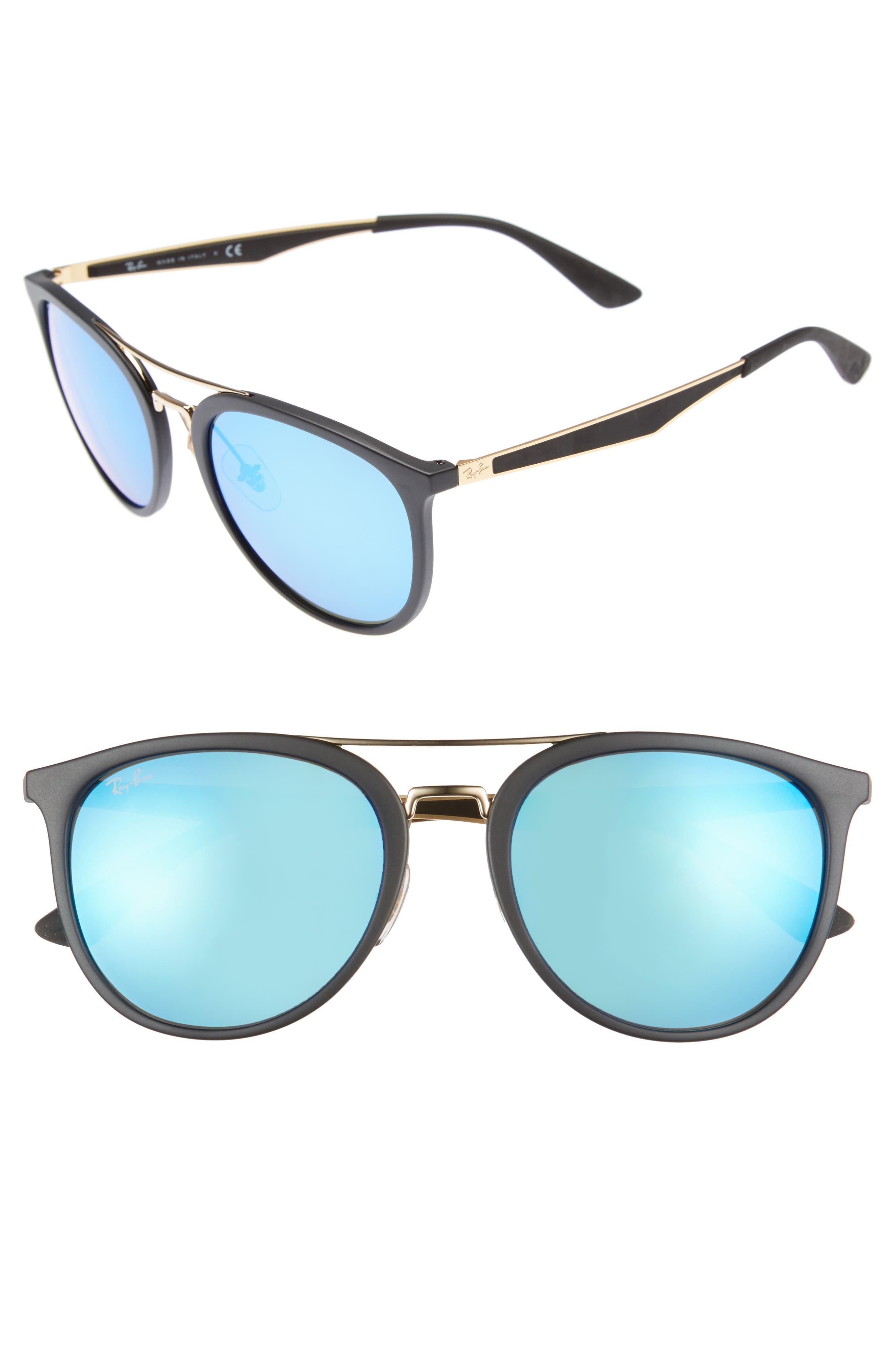 Ray-Ban 55Mm Retro Sunglasses - Black Blue