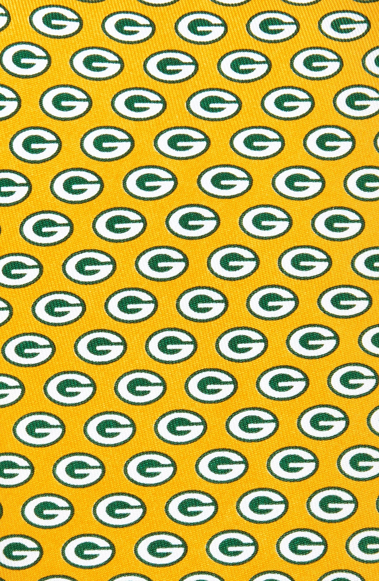 Green Bay Packers - NFL Woven Silk Tie,                             Alternate thumbnail 3, color,                             YELLOW