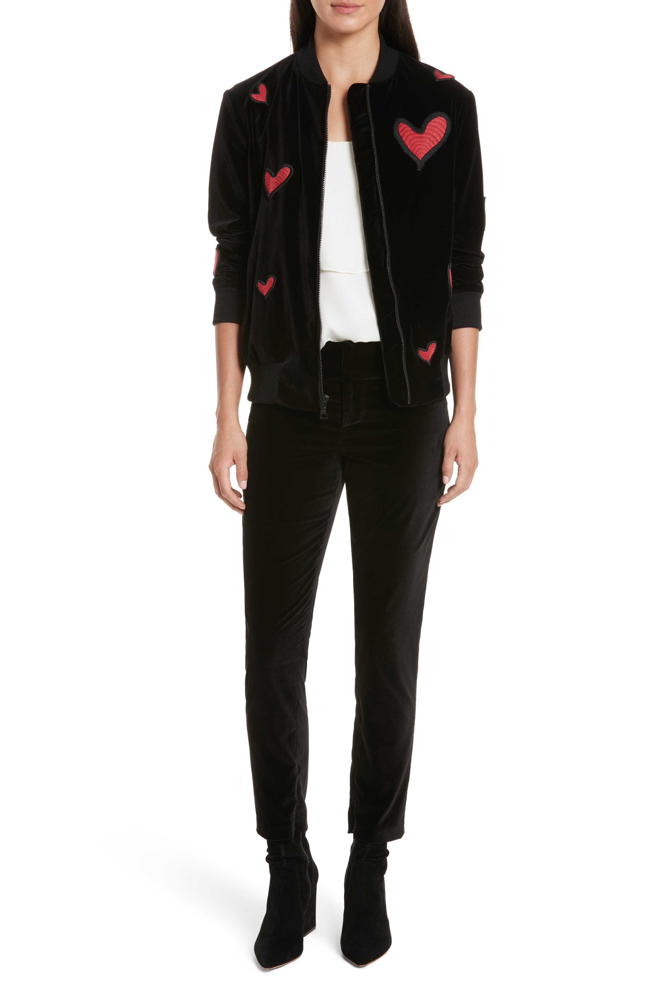 Embroidered Patch Oversize Bomber Jacket,                             Alternate thumbnail 7, color,                             014