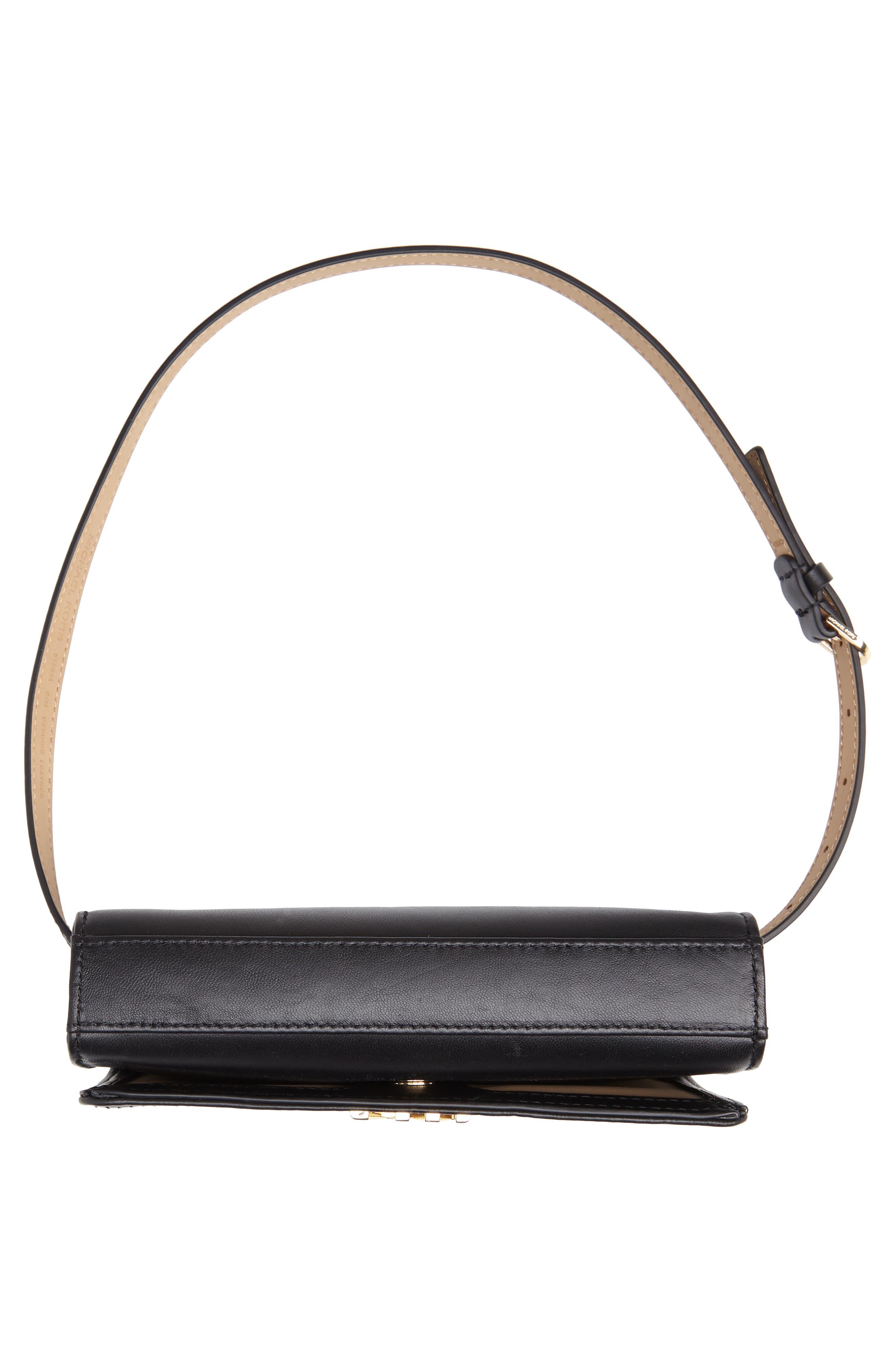Deco M Quilted Leather Belt Bag,                             Alternate thumbnail 7, color,                             BLACK