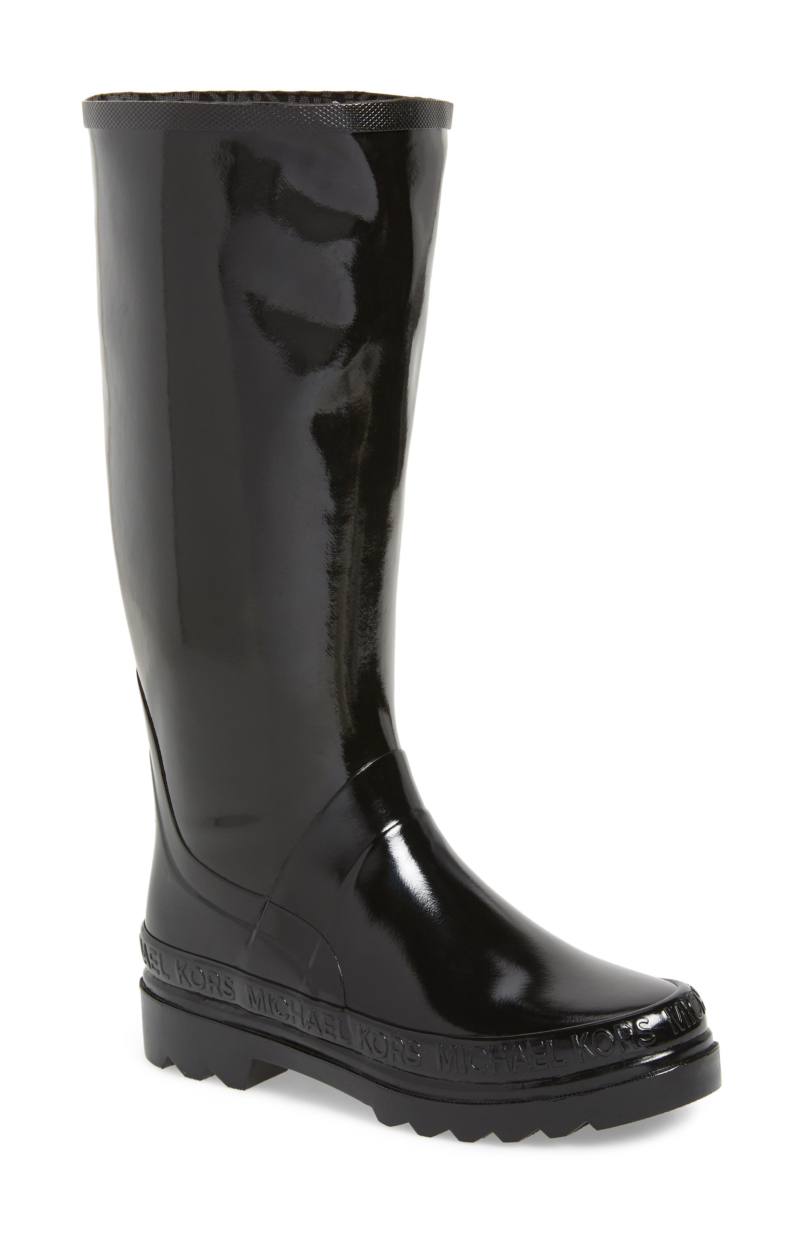 Michael Michael Kors Baxter Knee High Rain Boot, Black