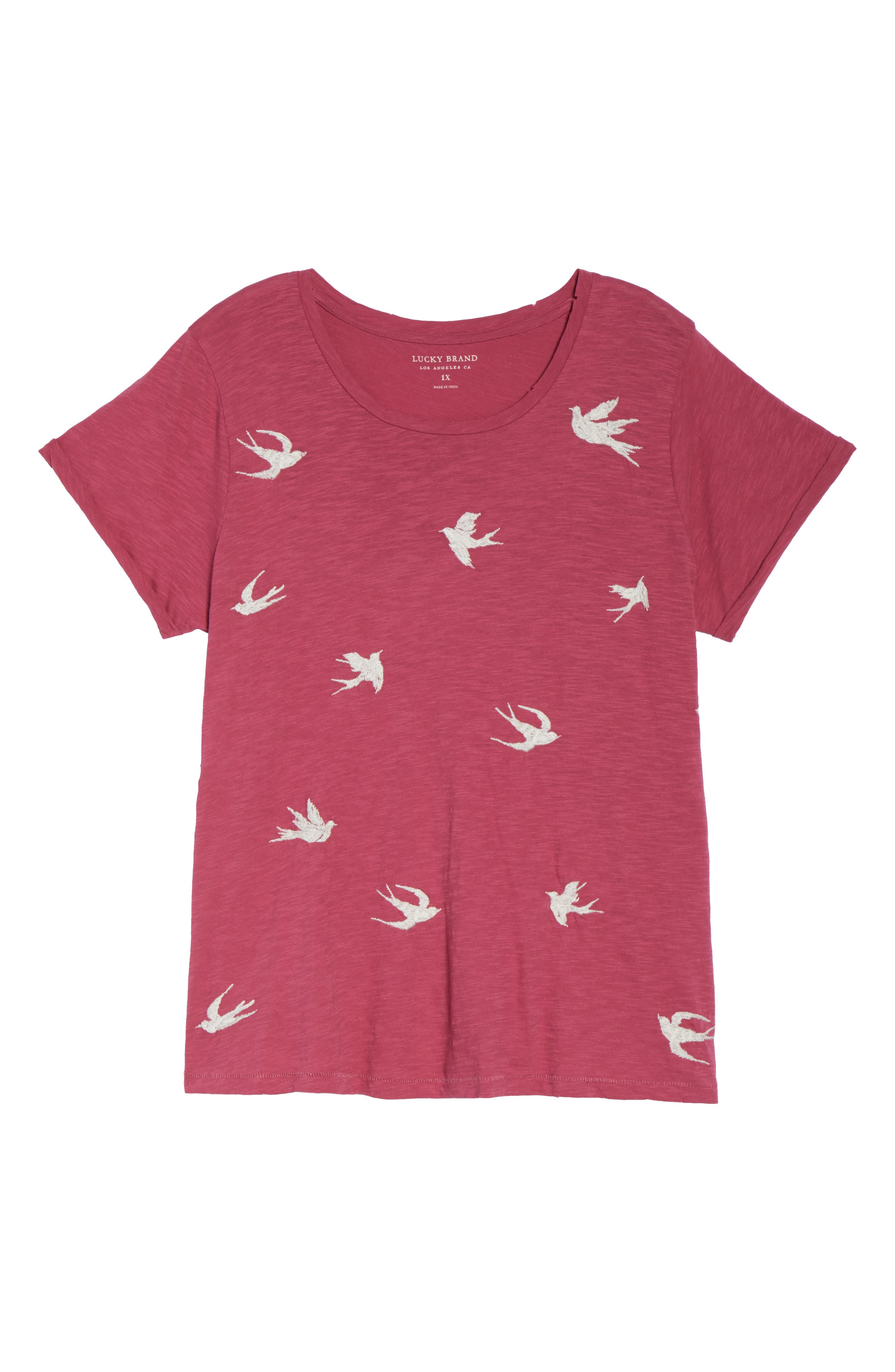 Embroidered Tee,                             Alternate thumbnail 6, color,                             660