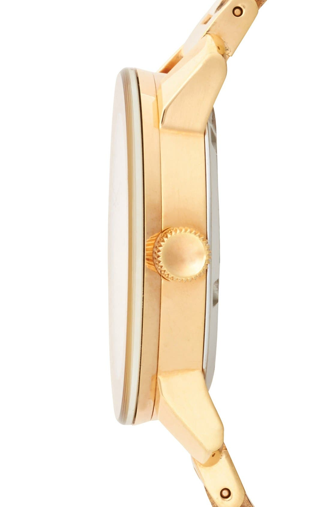 Bold Crystal Marker Bracelet Watch, 37mm,                             Alternate thumbnail 5, color,                             ROSEGOLD