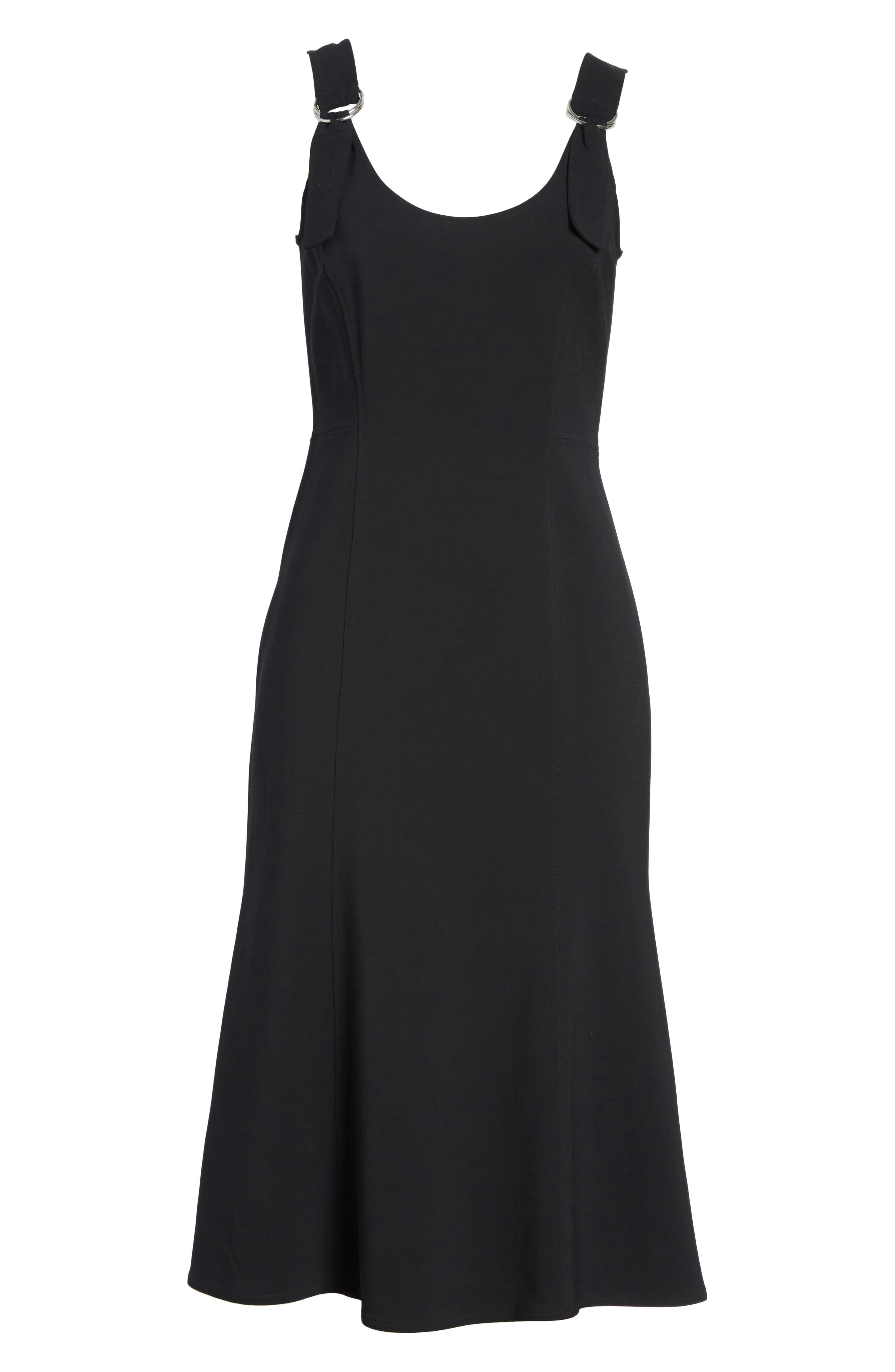 Sander Buckle Strap Midi Dress,                             Alternate thumbnail 11, color,