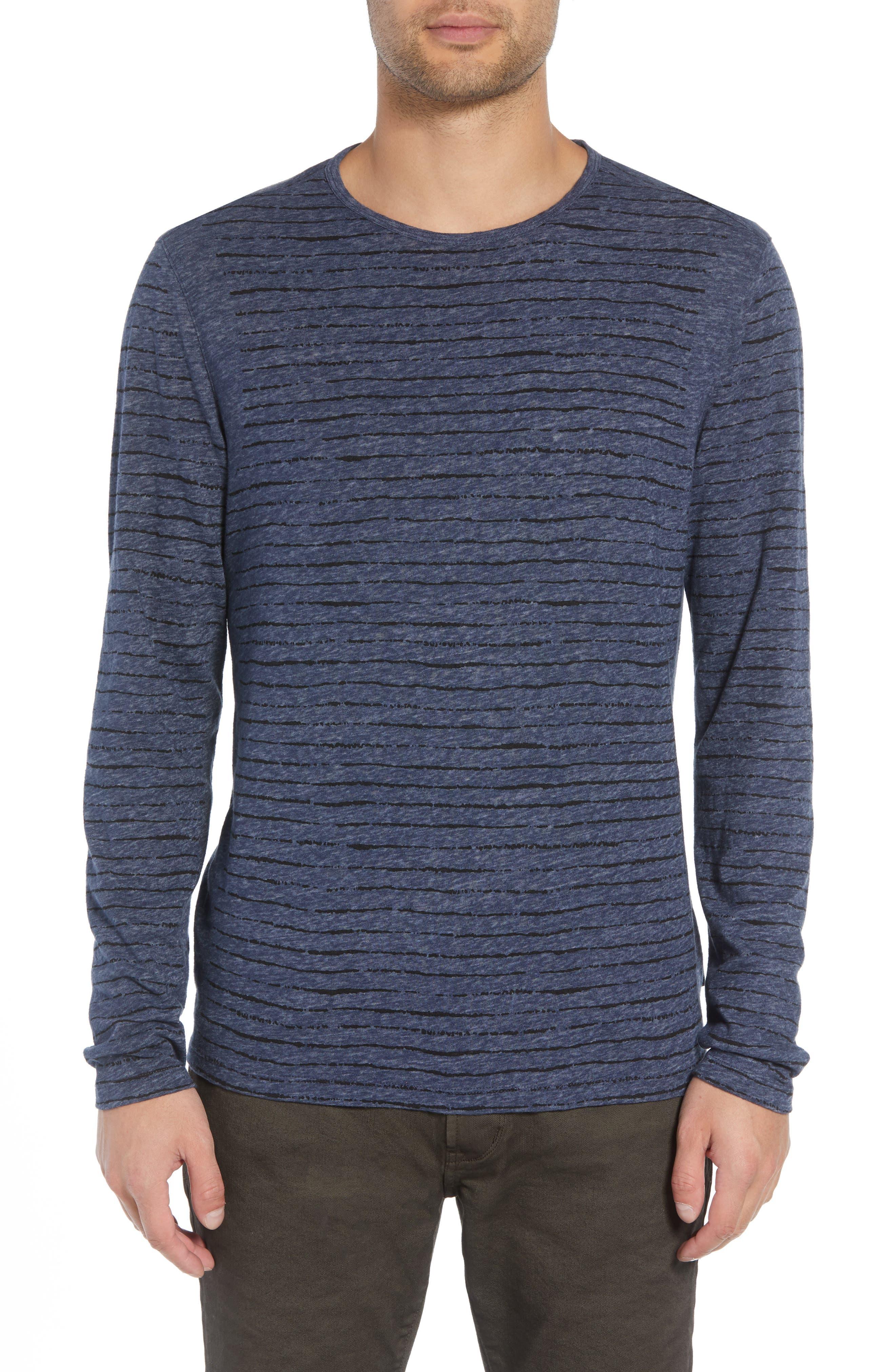 Regular Fit Crewneck Shirt,                         Main,                         color, MIDNIGHT