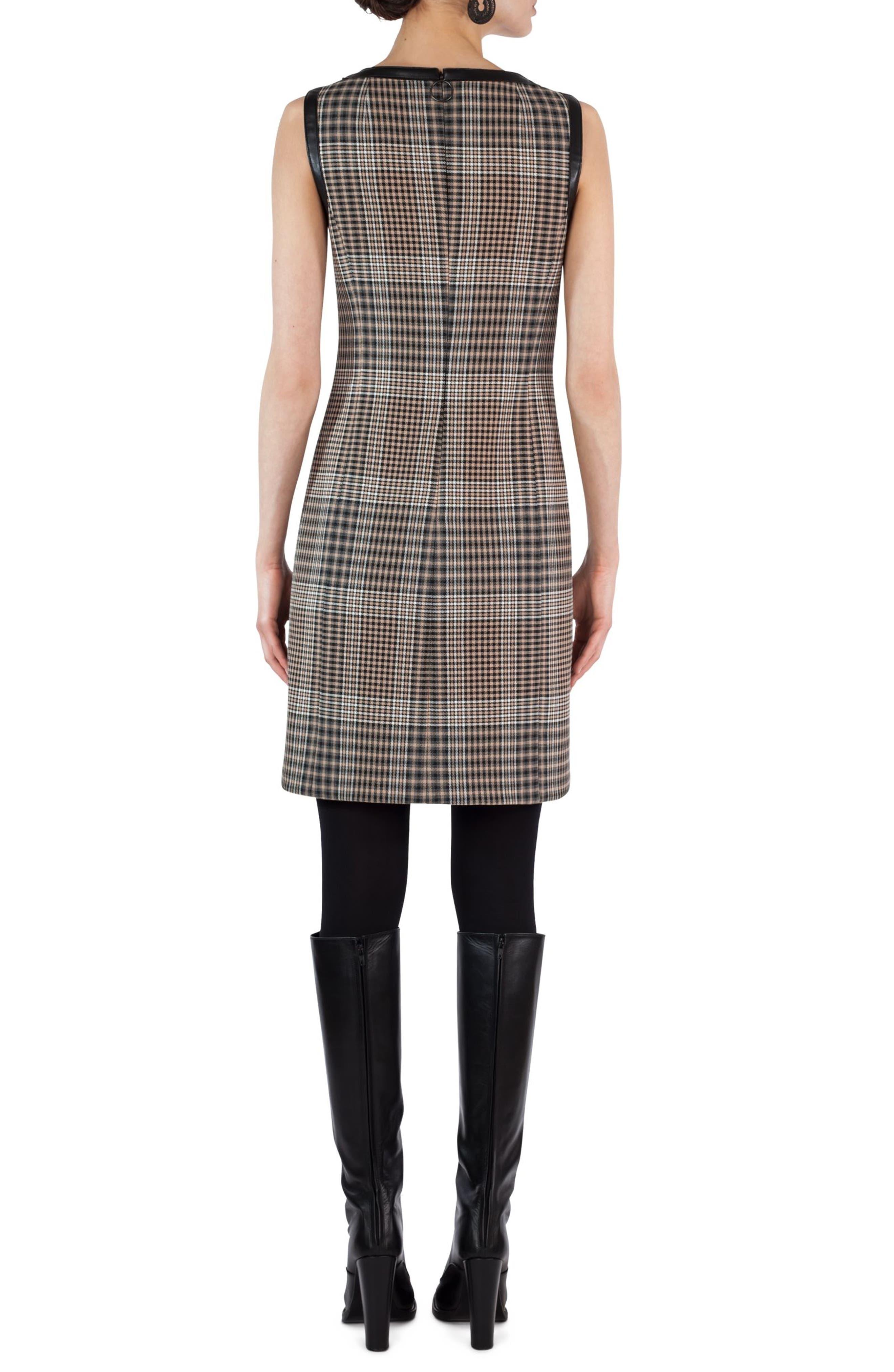 Glen Check Sheath Dress,                             Alternate thumbnail 2, color,                             200