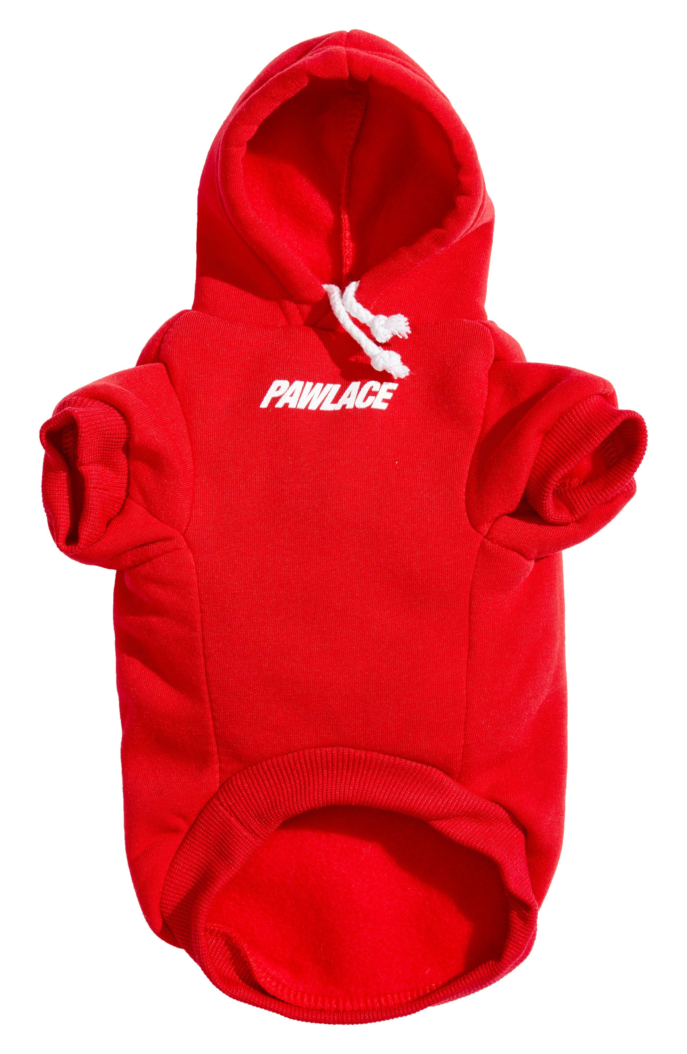 Pawlace Dog Hoodie,                             Alternate thumbnail 2, color,                             RED