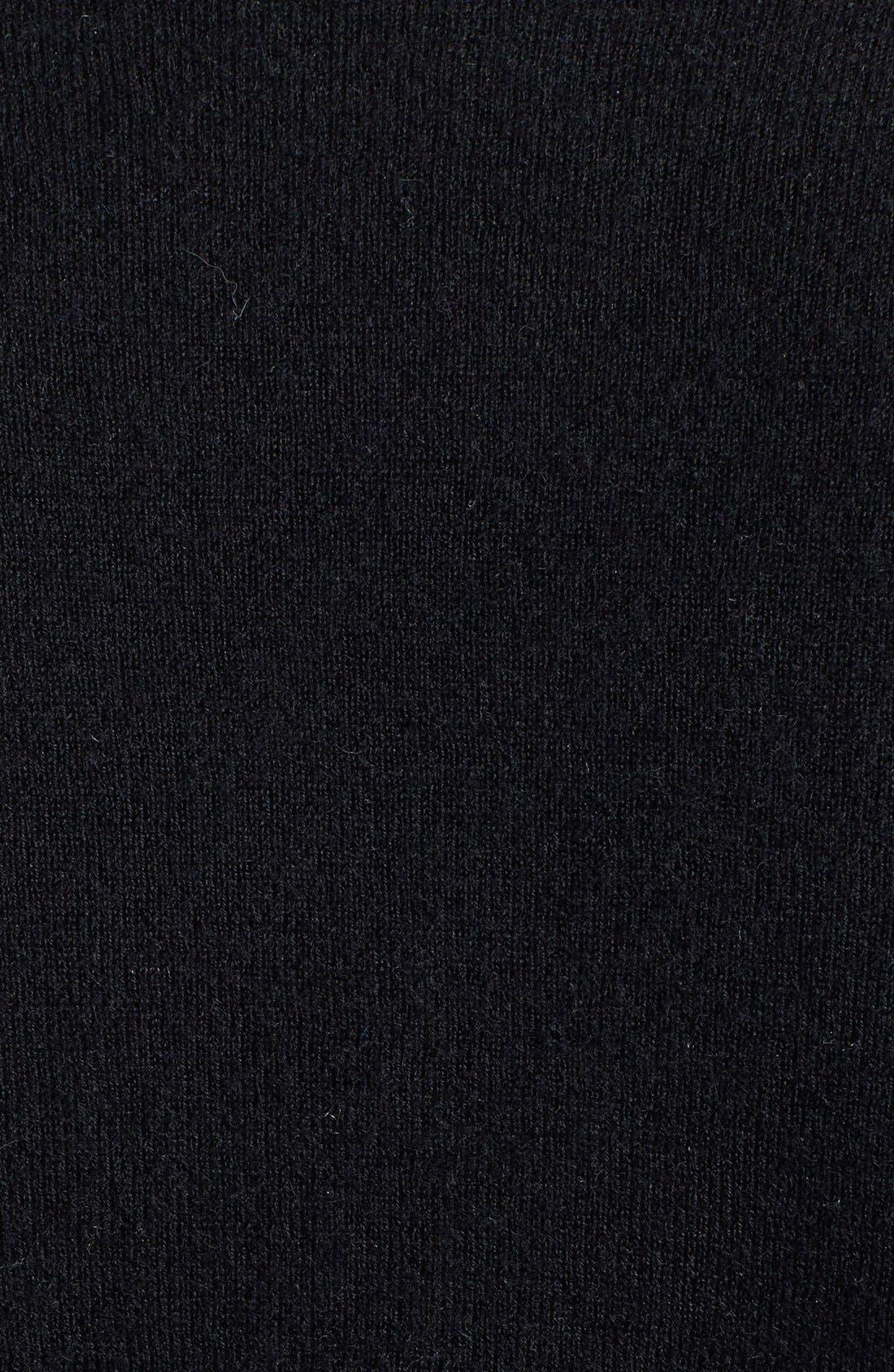 Deep V-Neck Cashmere Sweater,                             Alternate thumbnail 3, color,                             001